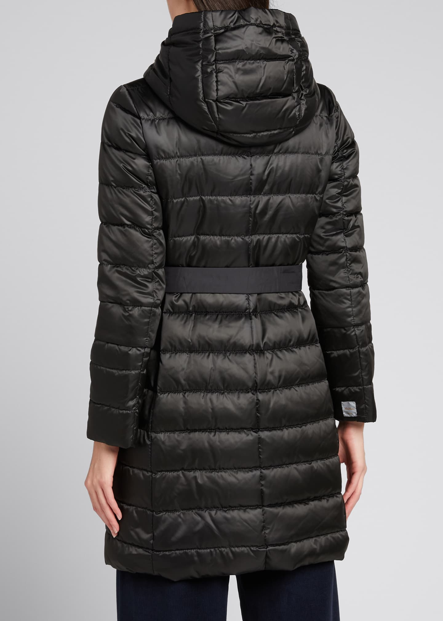Image 2 of 5: Novef Reversible Channel-Quilt Down Coat, Black