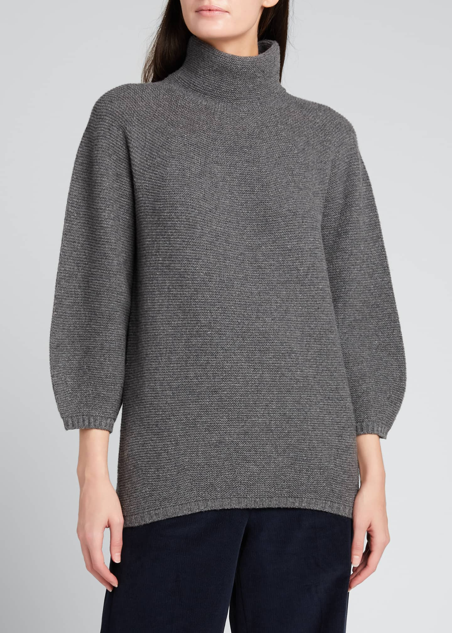 Image 3 of 5: Etrusco Wool-Cashmere High-Neck Sweater