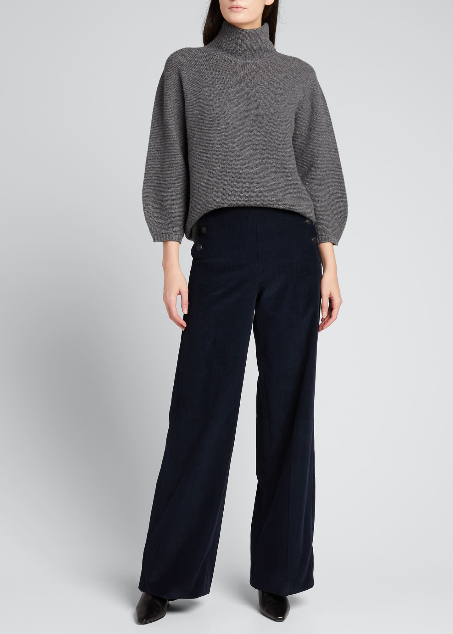 Image 1 of 5: Etrusco Wool-Cashmere High-Neck Sweater