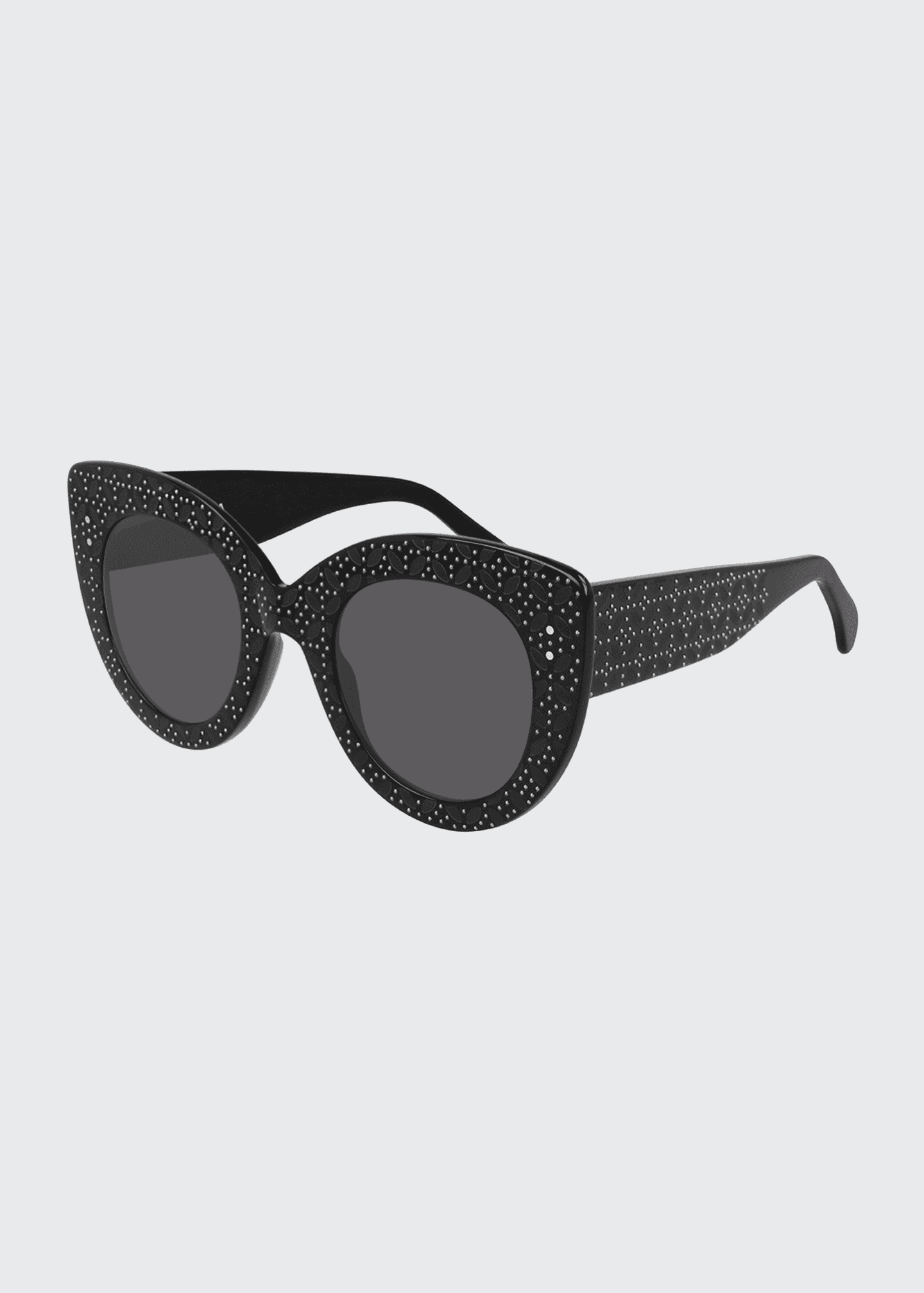 Image 1 of 1: Oversized Acetate Cat-Eye Sunglasses