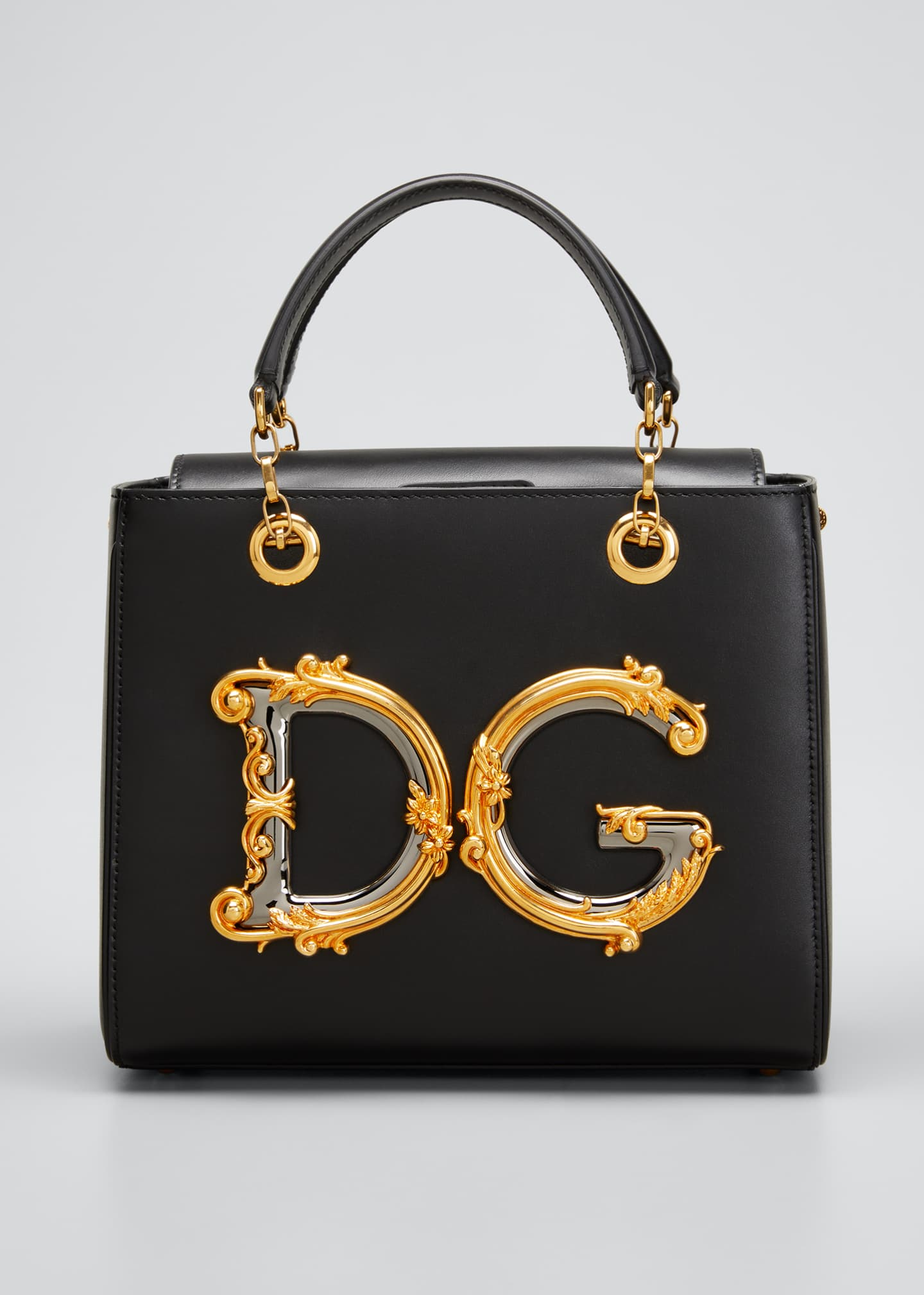 DG Medallion Top Handle Satchel Bag