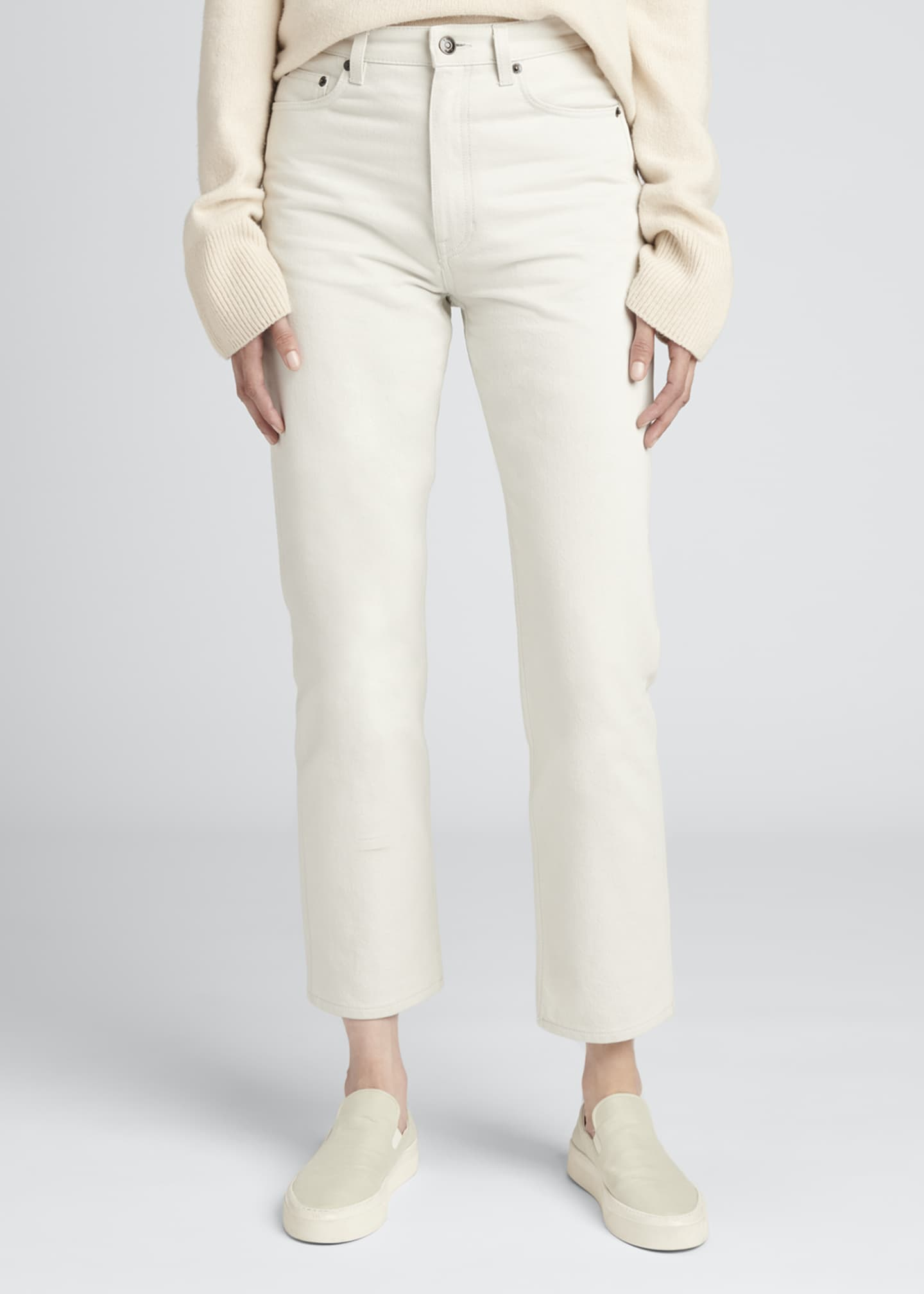 Image 3 of 3: Christie Cotton Denim Ankle Jeans