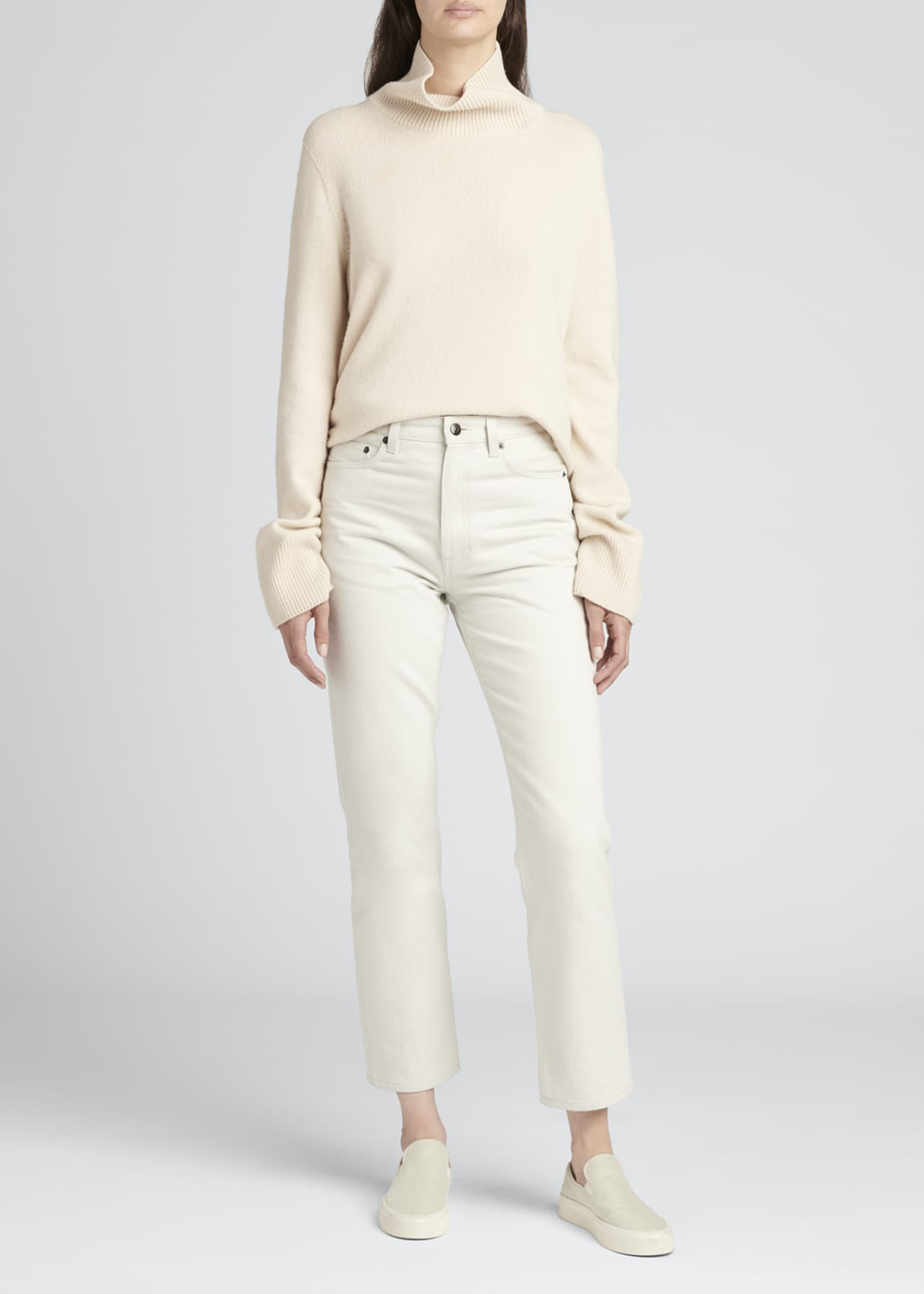 Image 1 of 3: Christie Cotton Denim Ankle Jeans