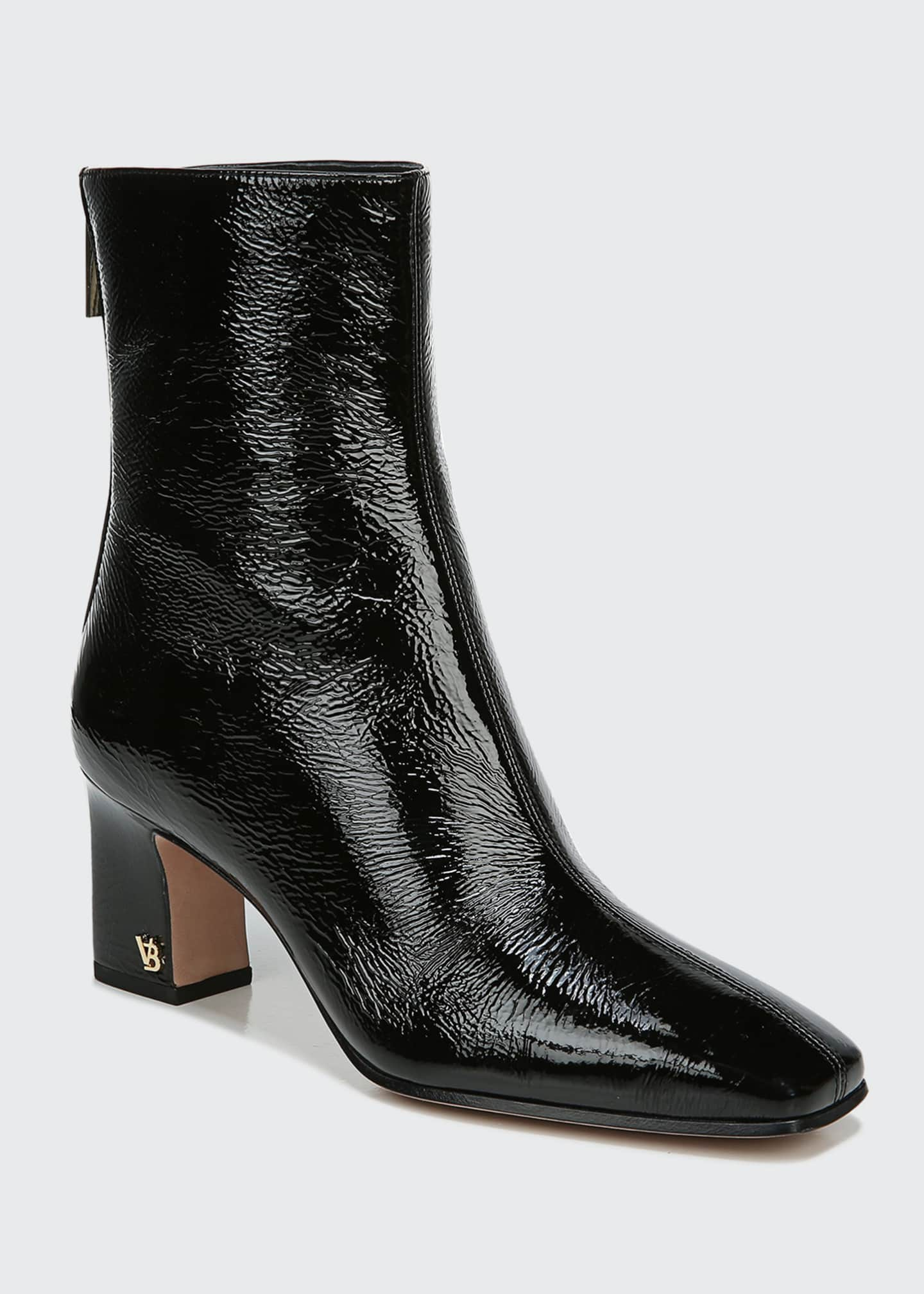Image 2 of 4: Bruna Patent Zip Booties