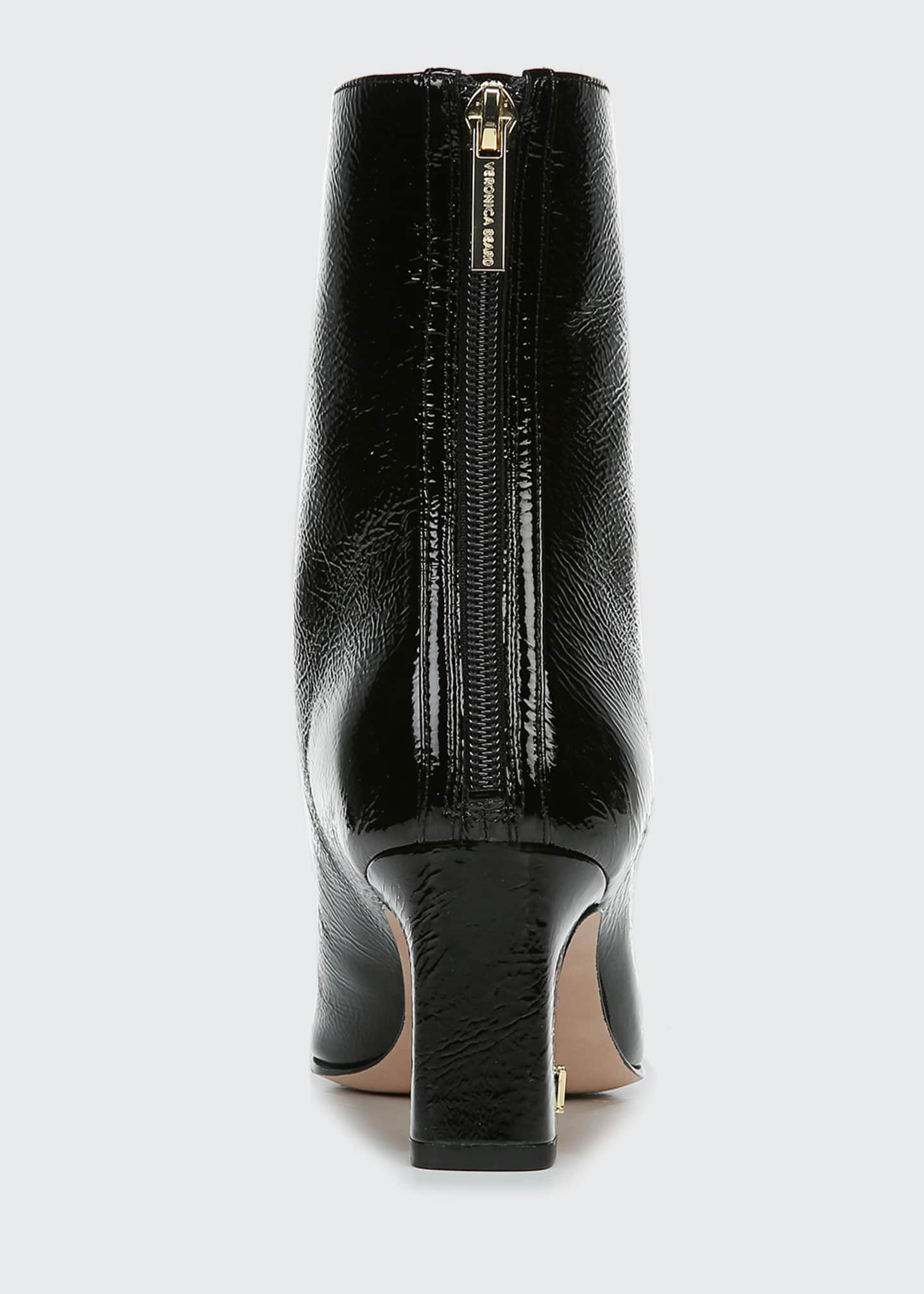 Image 4 of 4: Bruna Patent Zip Booties