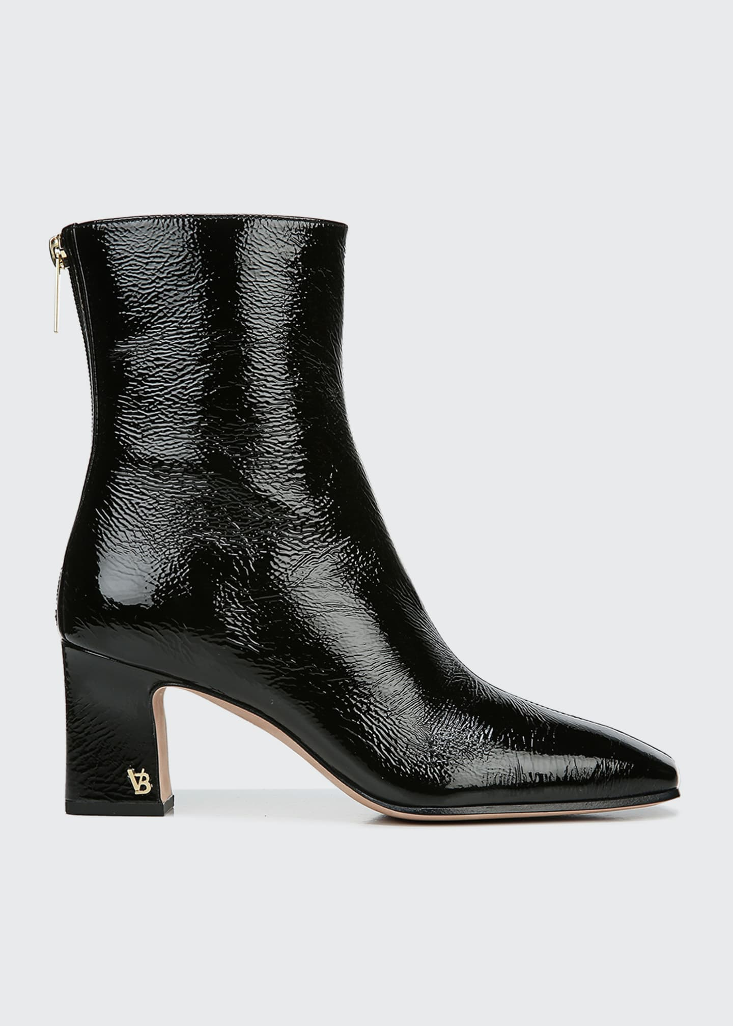 Bruna Patent Zip Booties