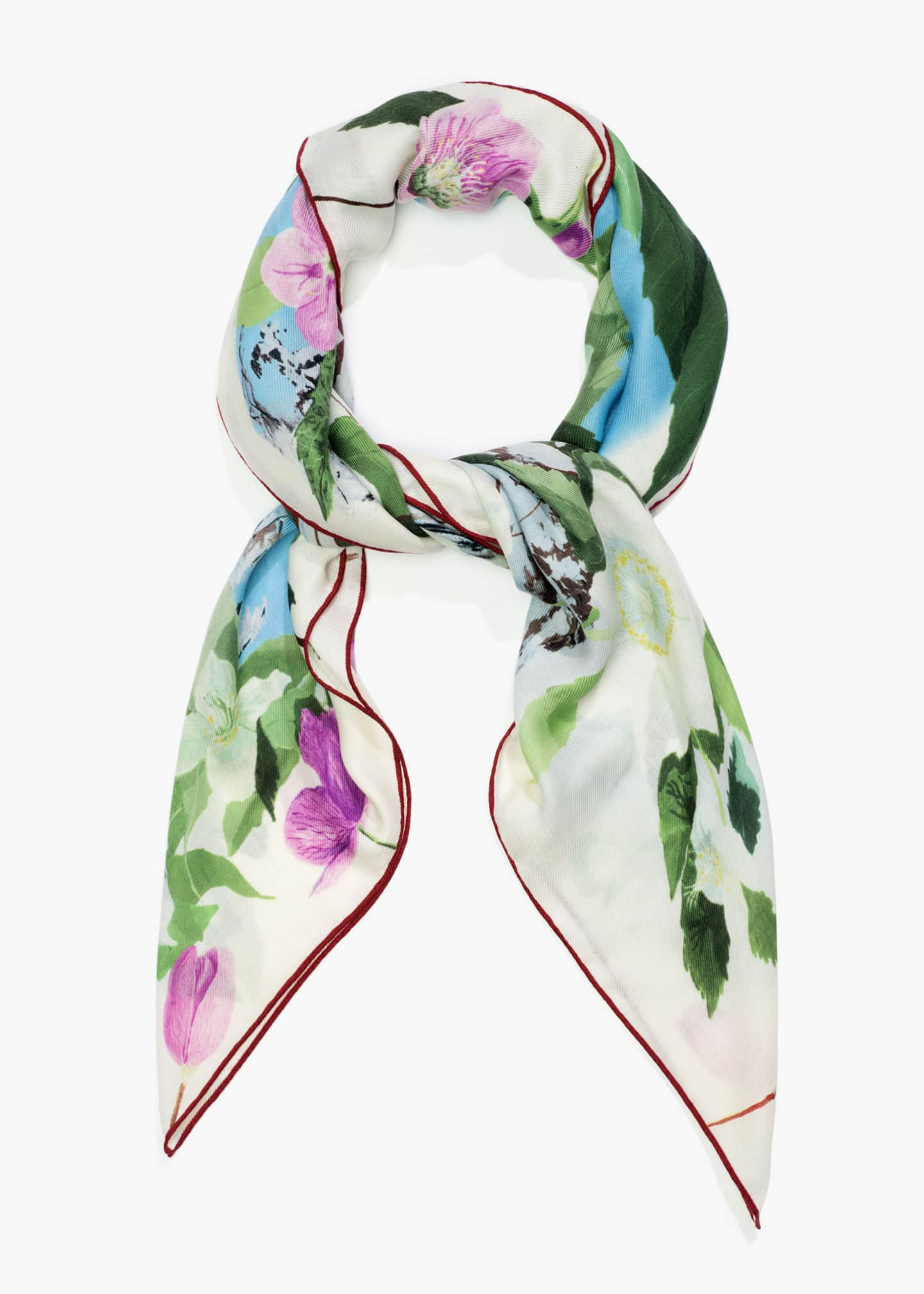 Image 1 of 3: The Hellebores and the Snow Cashmere-Blend Maxi Scarf
