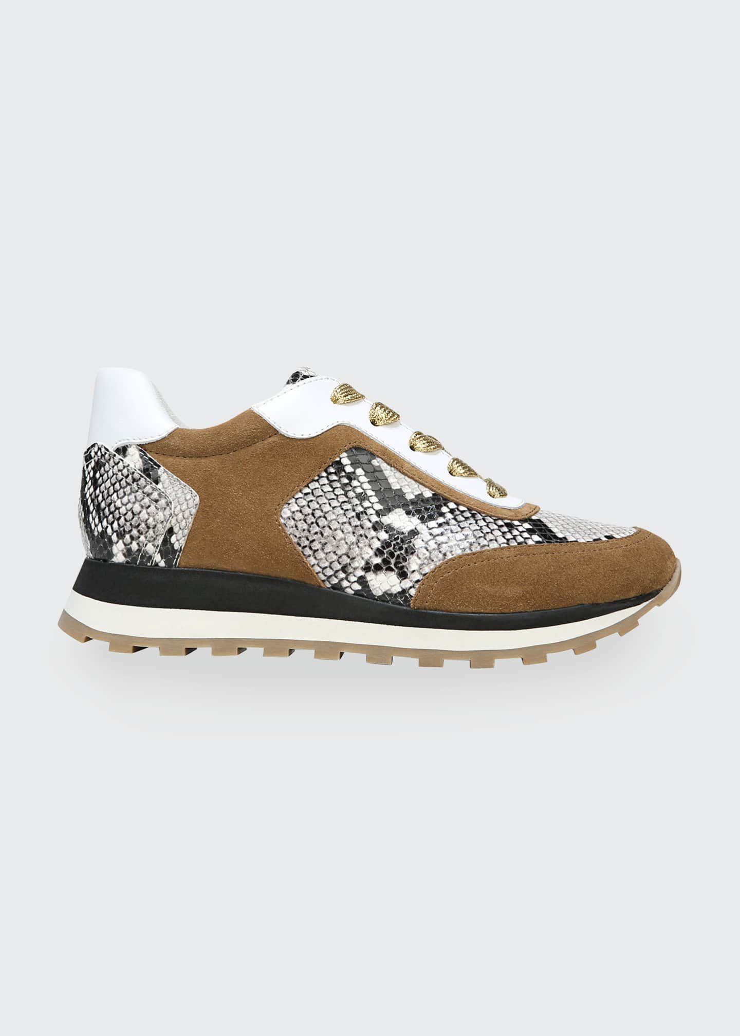 Image 1 of 4: Hartley Mixed Media Retro Sneakers