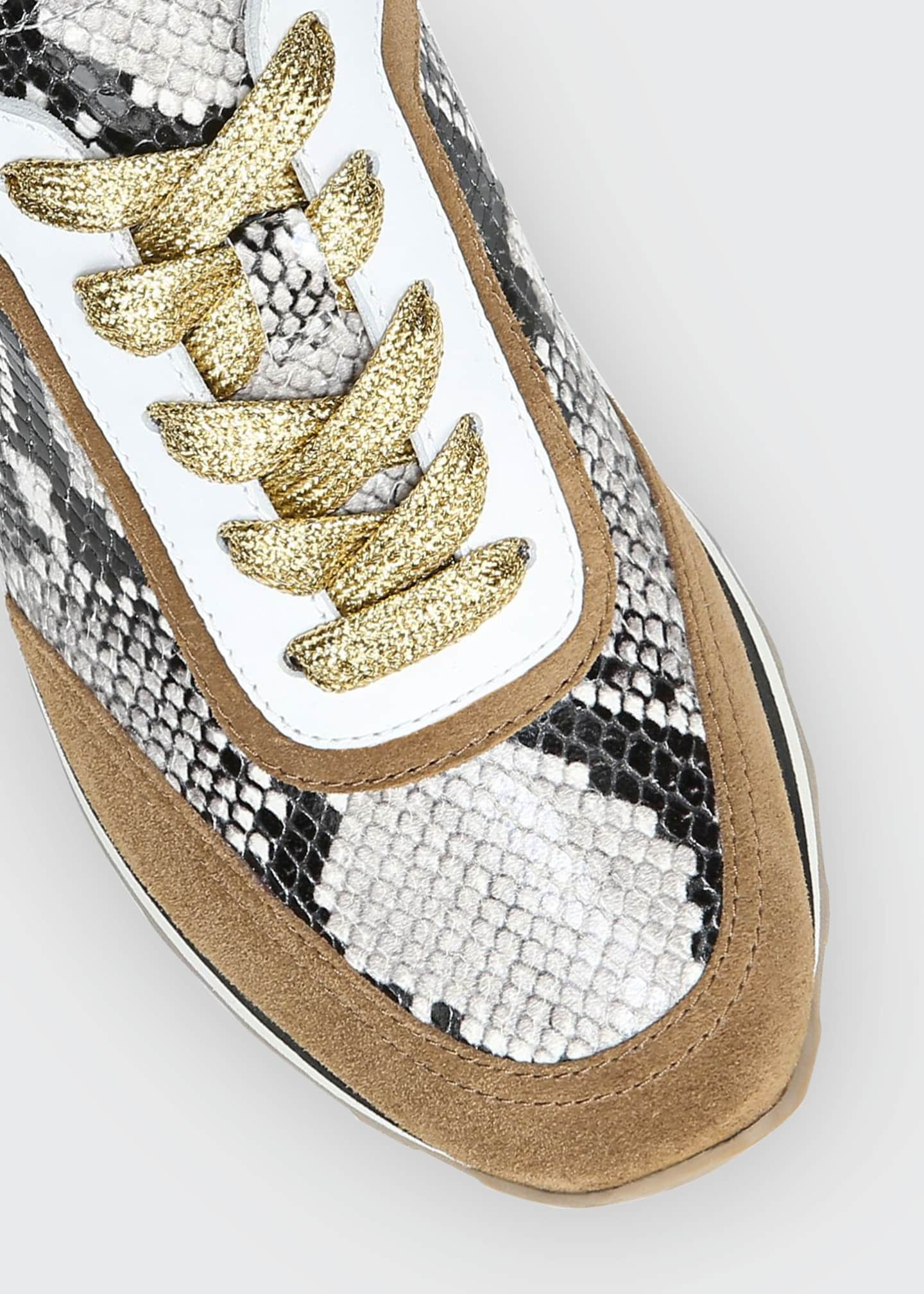 Image 4 of 4: Hartley Mixed Media Retro Sneakers