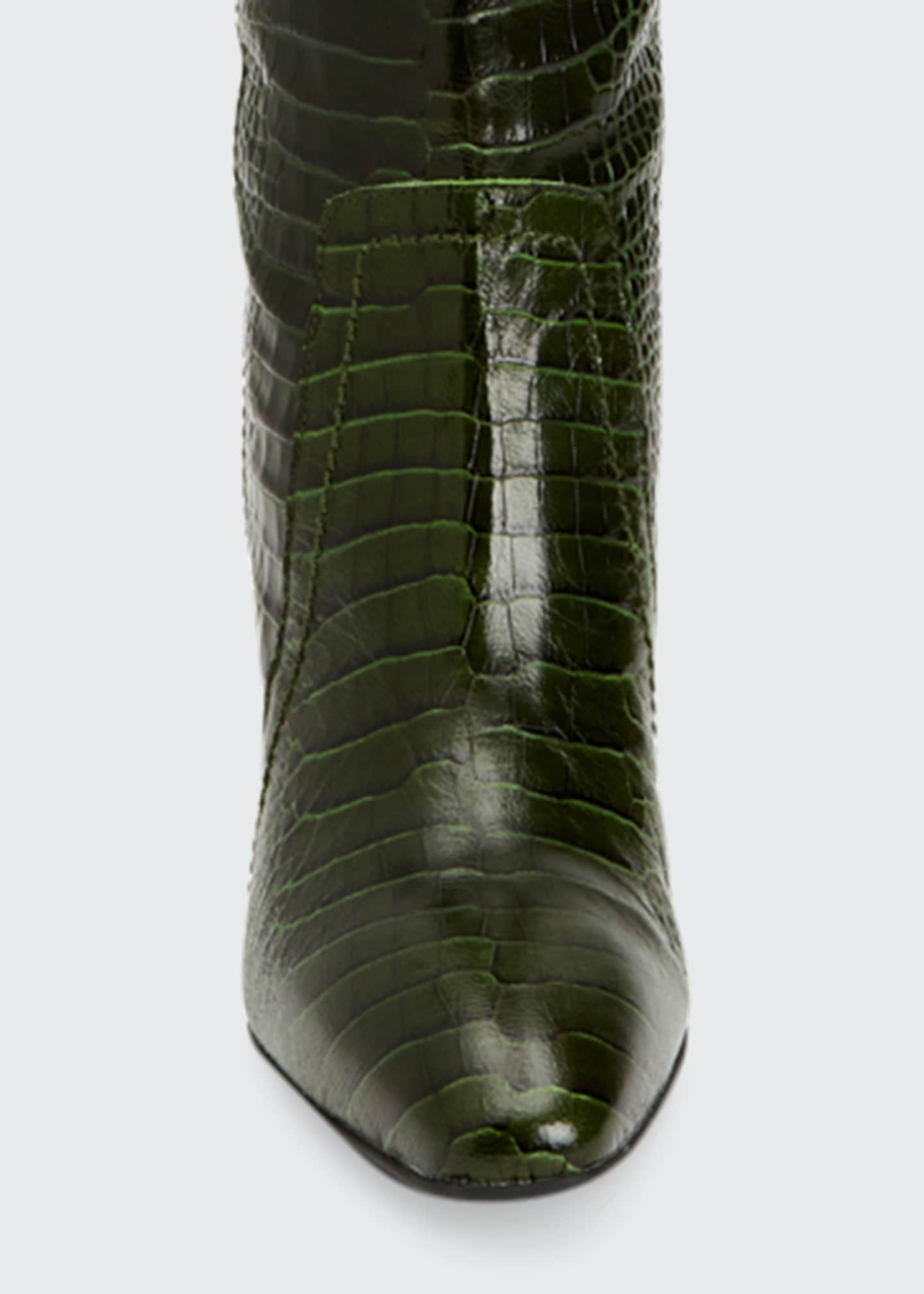Image 4 of 4: 70mm Florina Mock-Croc Over-the-Knee Boots