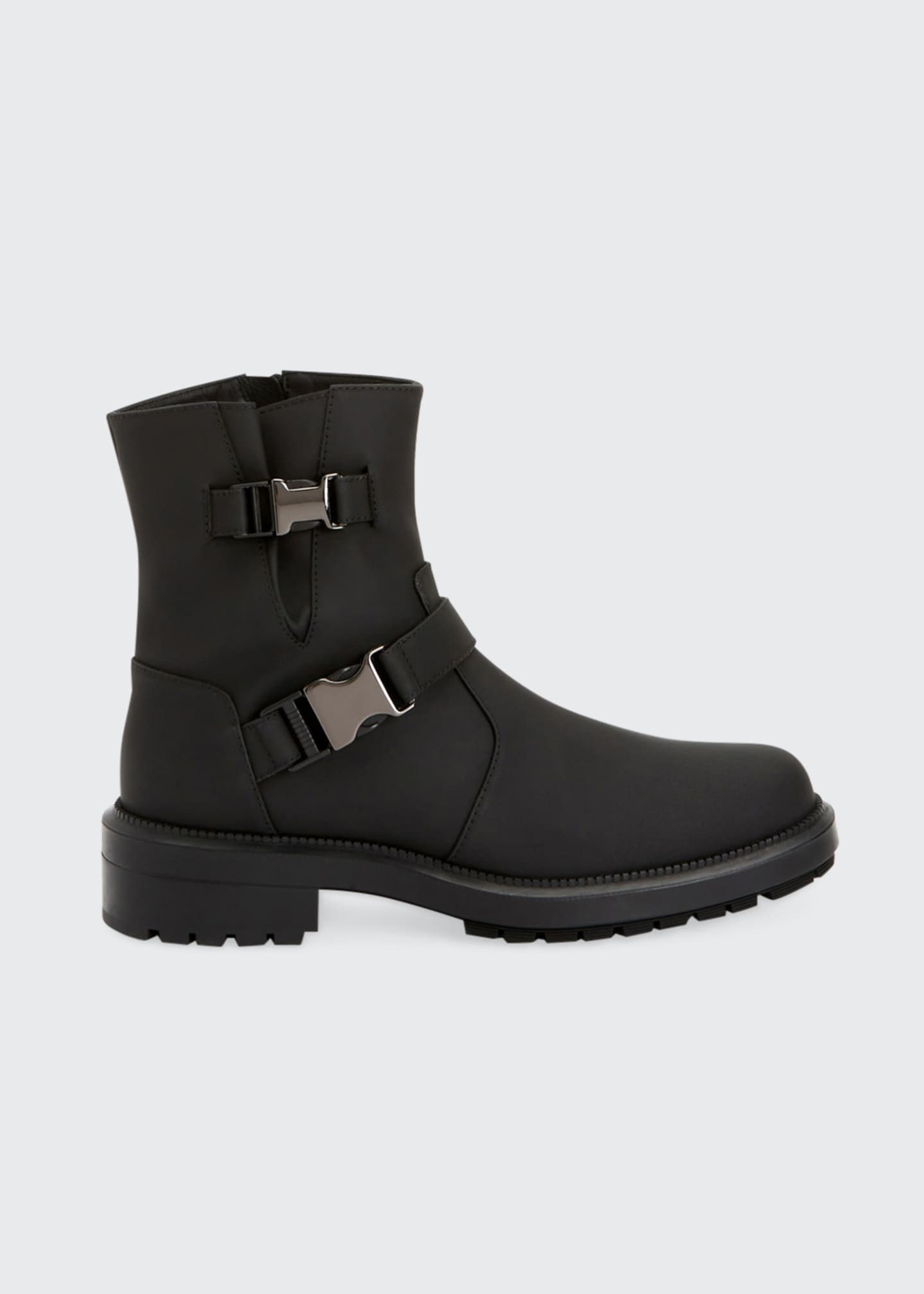 Image 1 of 4: Lillie Leather Buckle Combat Booties