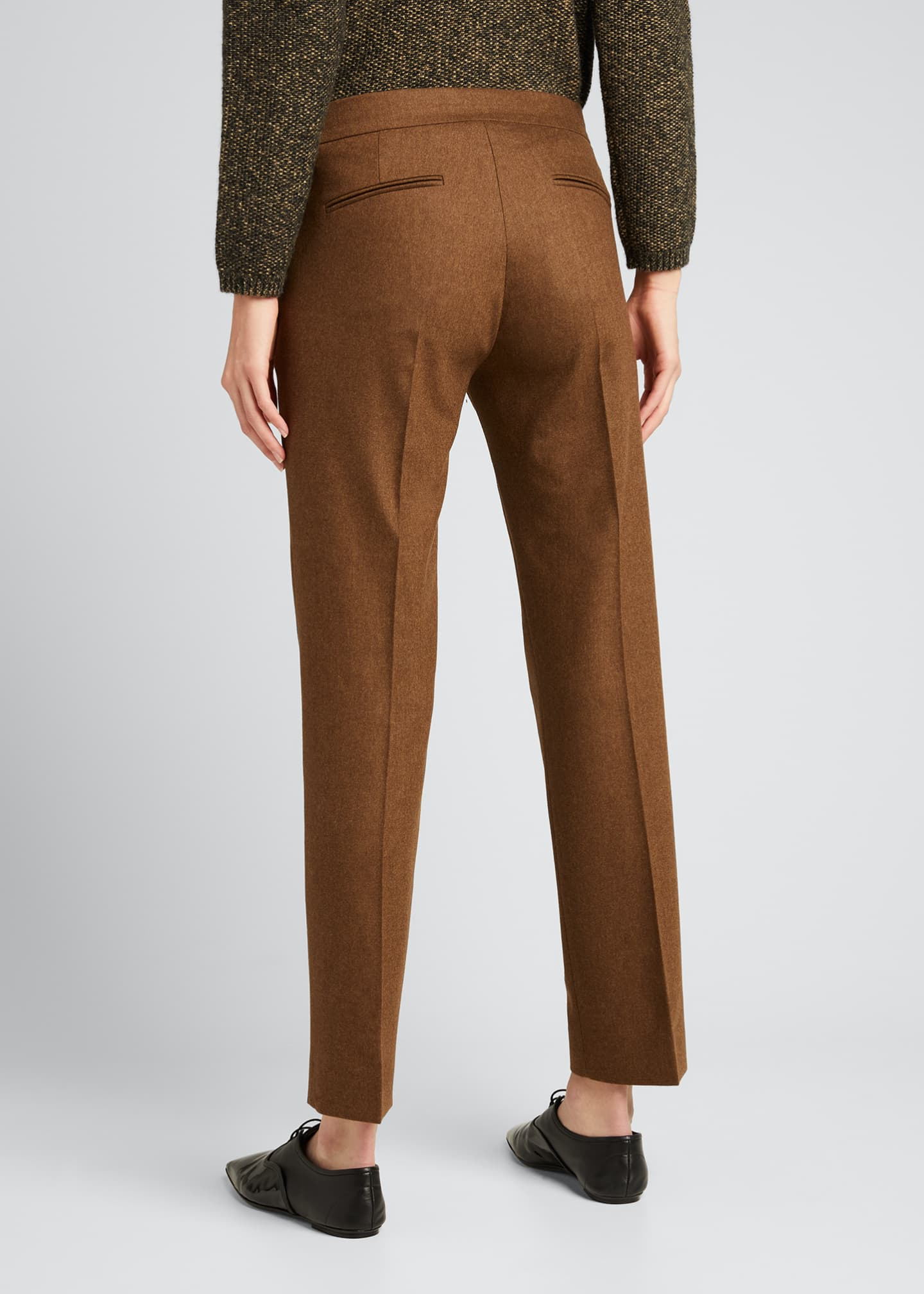 Image 2 of 5: Abano Wool-Blend Ankle Trousers