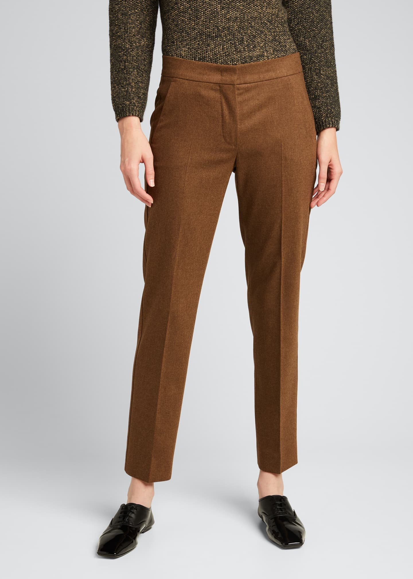 Image 3 of 5: Abano Wool-Blend Ankle Trousers