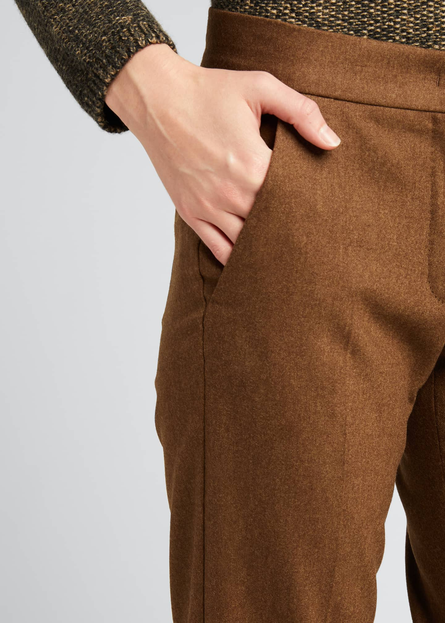 Image 4 of 5: Abano Wool-Blend Ankle Trousers