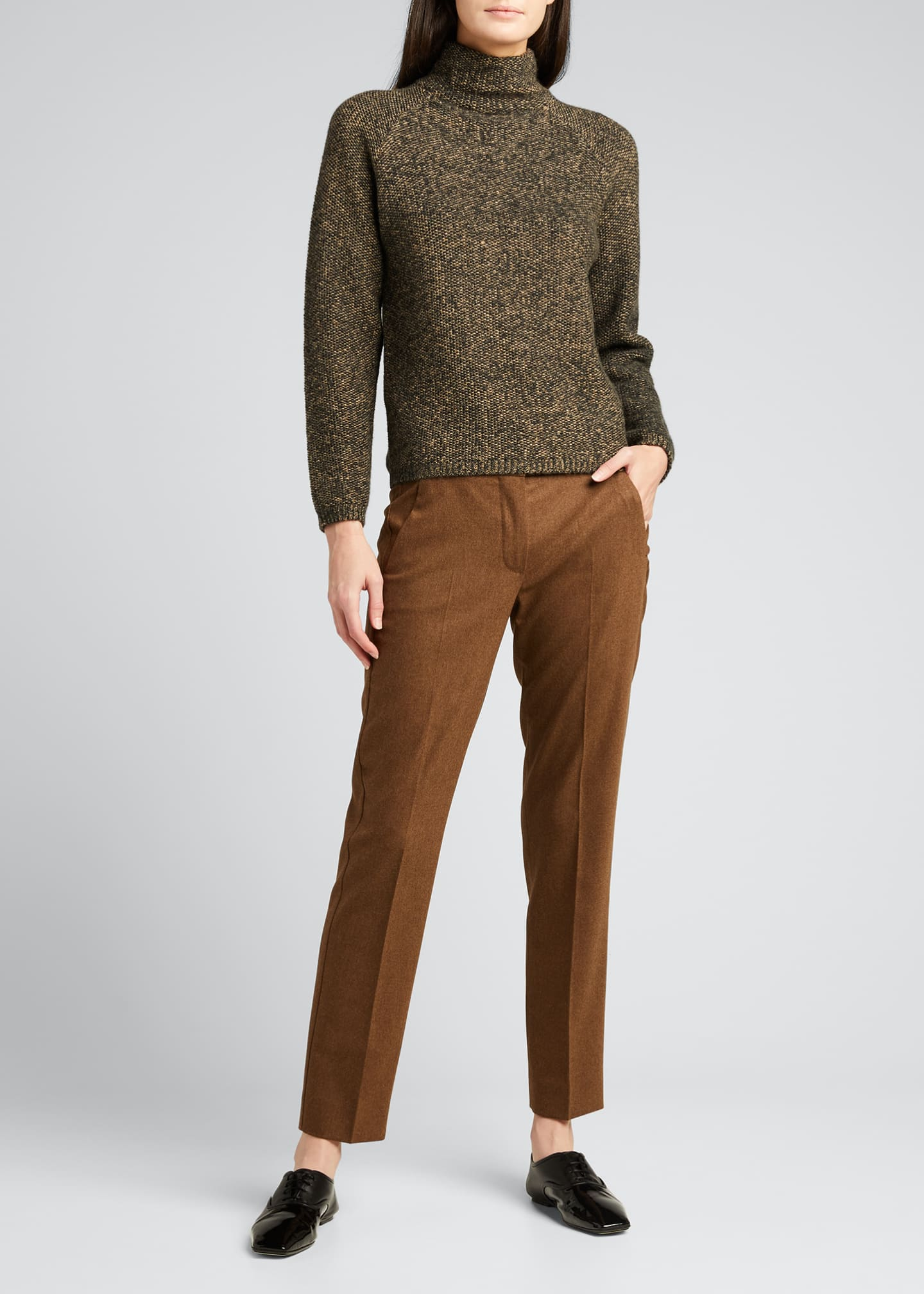 Image 1 of 5: Abano Wool-Blend Ankle Trousers