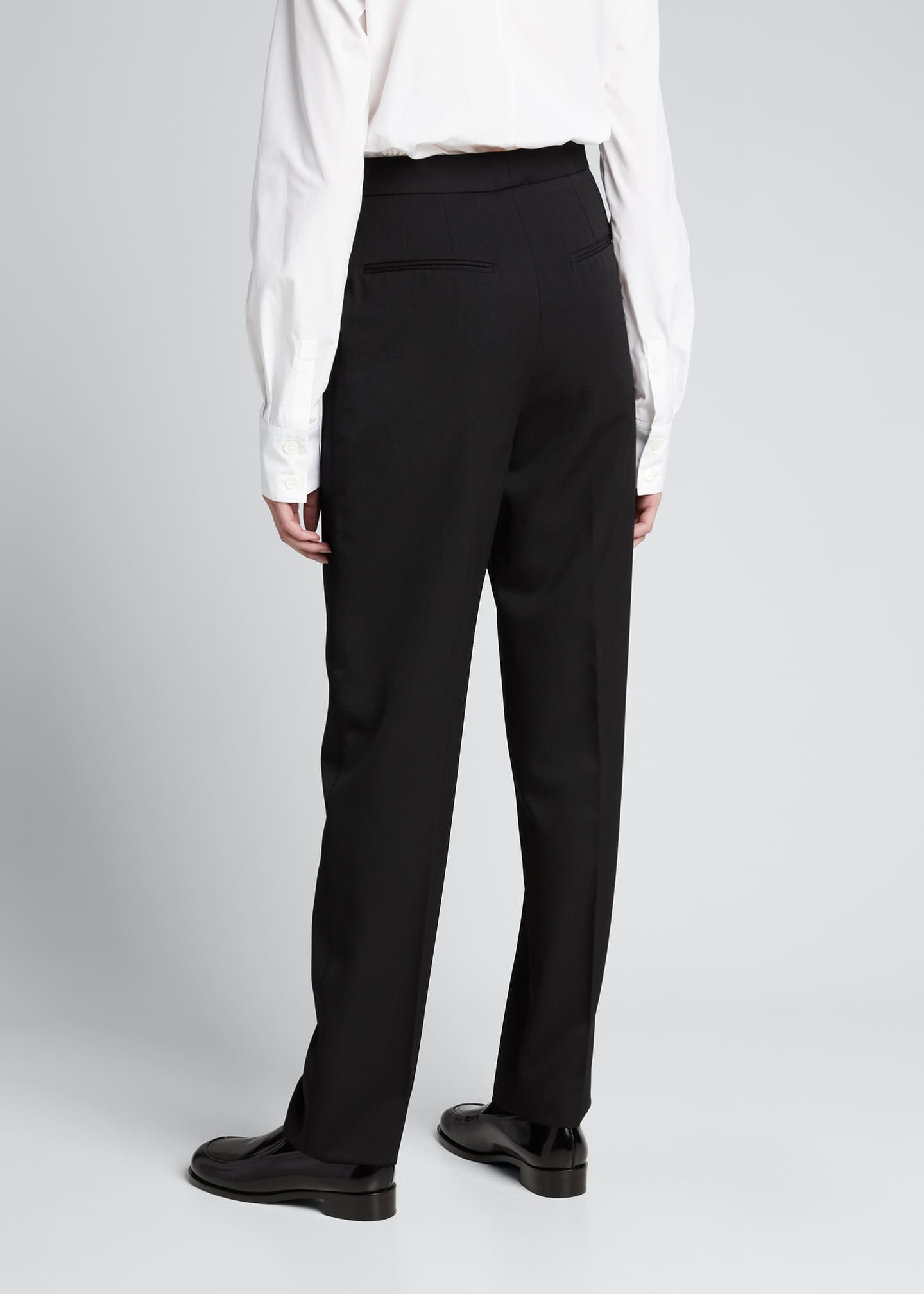 Image 2 of 5: Wool Straight-Leg Trousers