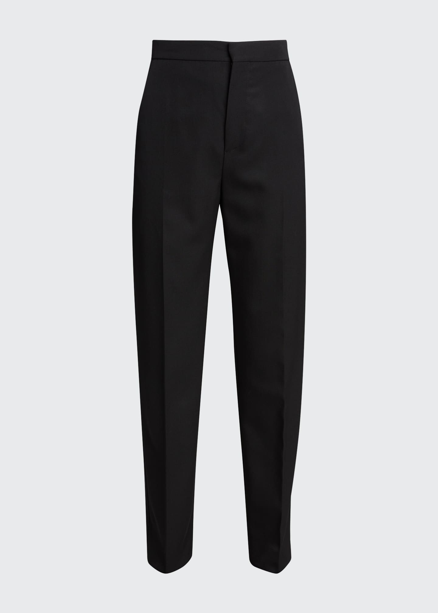 Image 5 of 5: Wool Straight-Leg Trousers