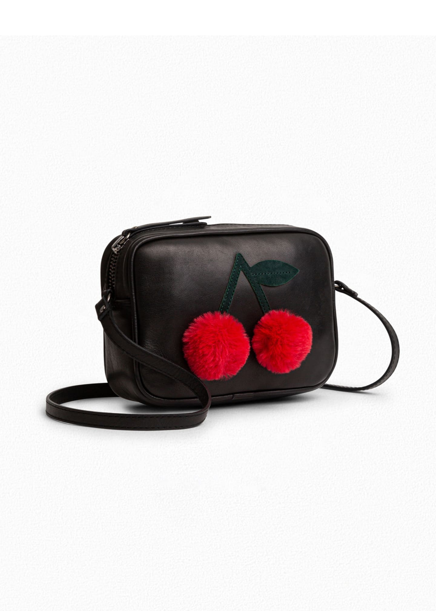 Image 1 of 1: Kid Girls' Sac Pompon Cerise