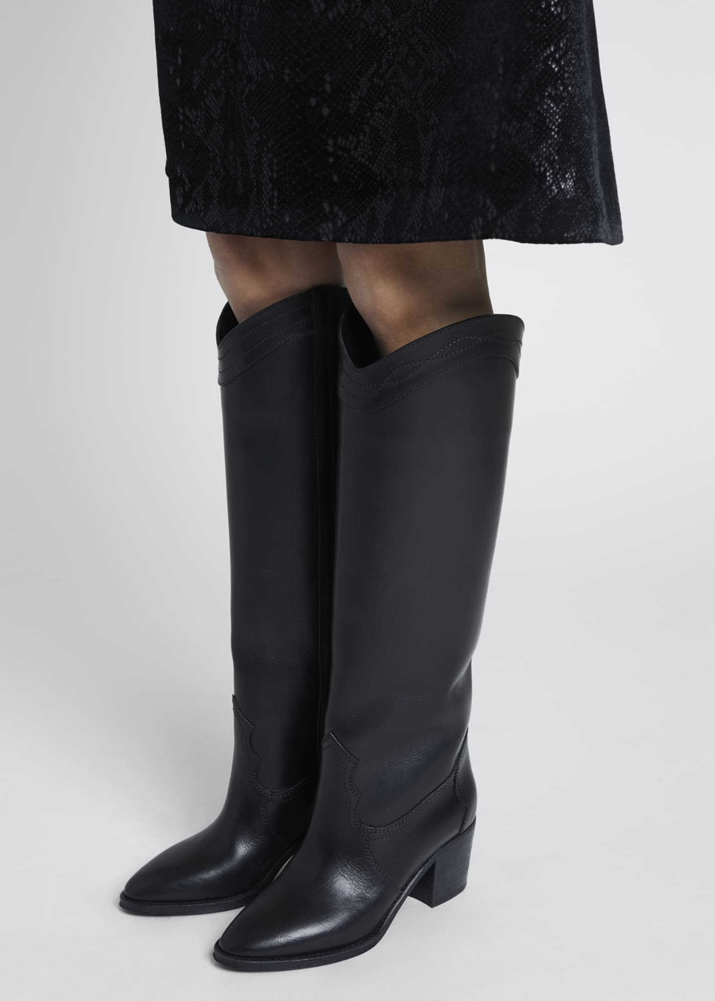 Image 2 of 5: Kate Tall Western Boots