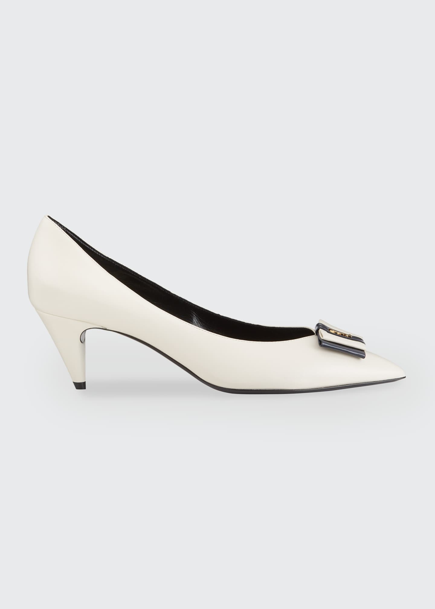 Image 1 of 5: Anai YSL Bow Leather Pumps