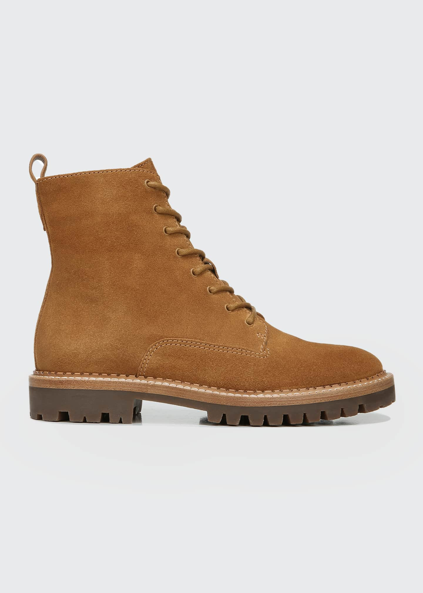Image 1 of 3: Cabria Suede Water-Repellant Combat Boots