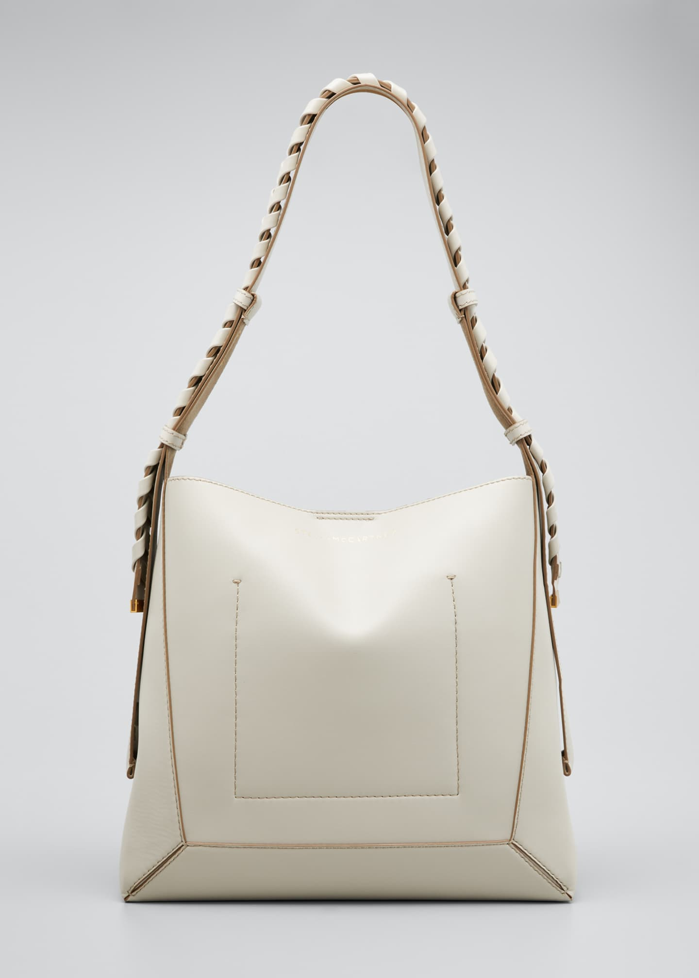 Image 1 of 4: Medium Eco Braided-Strap Hobo Bag
