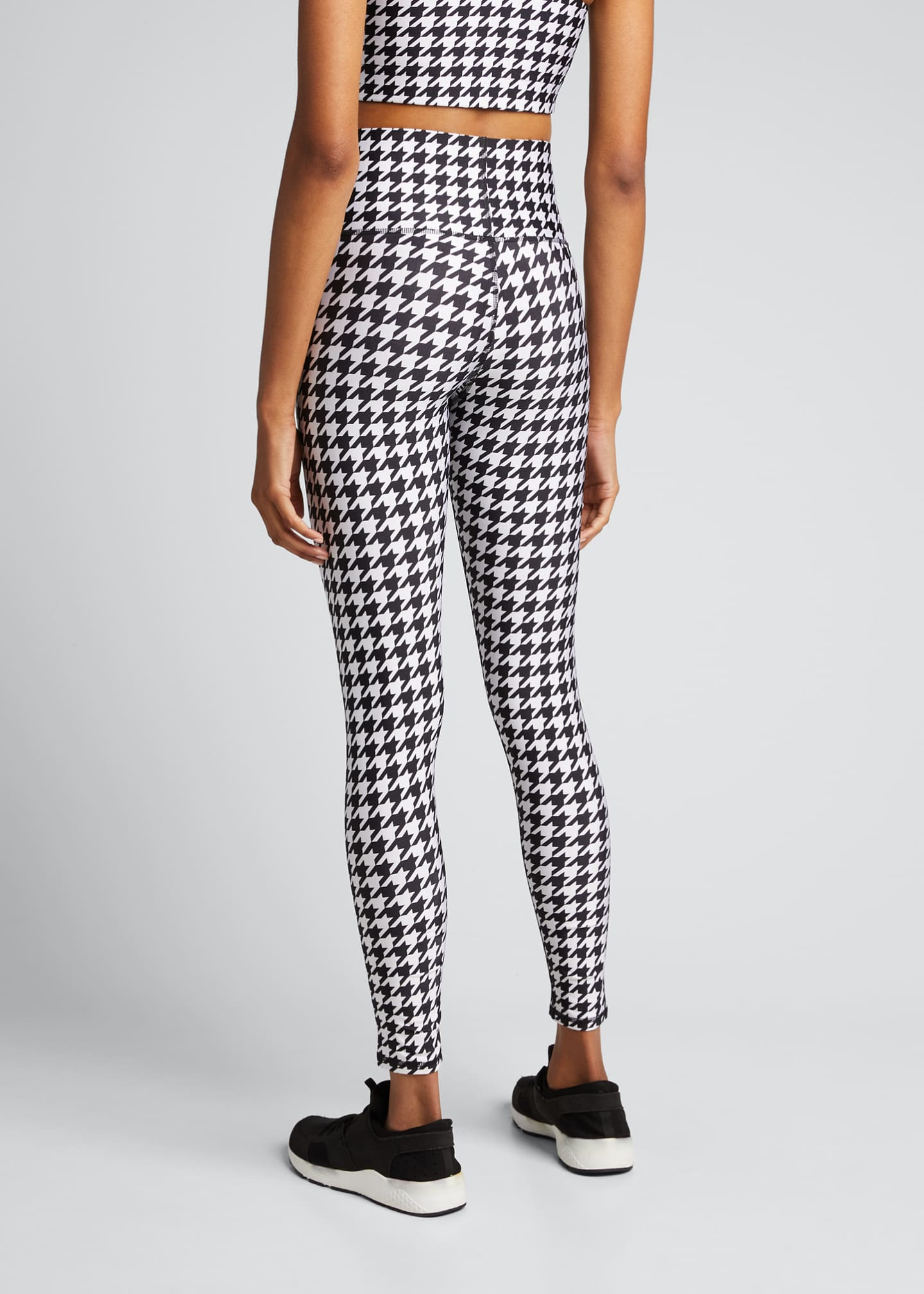 Image 2 of 5: Houndstooth Hi-Shine Leggings