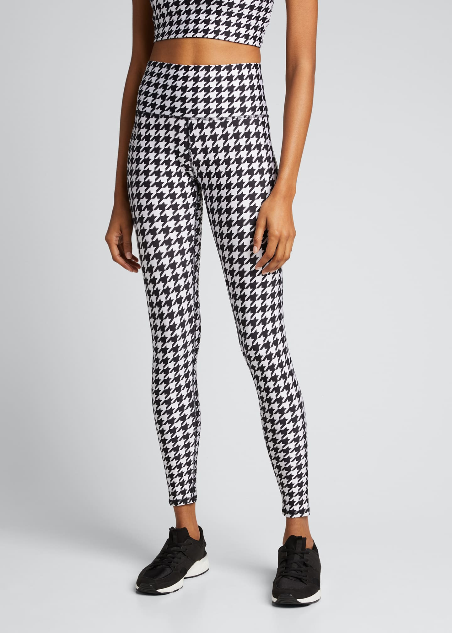 Image 3 of 5: Houndstooth Hi-Shine Leggings