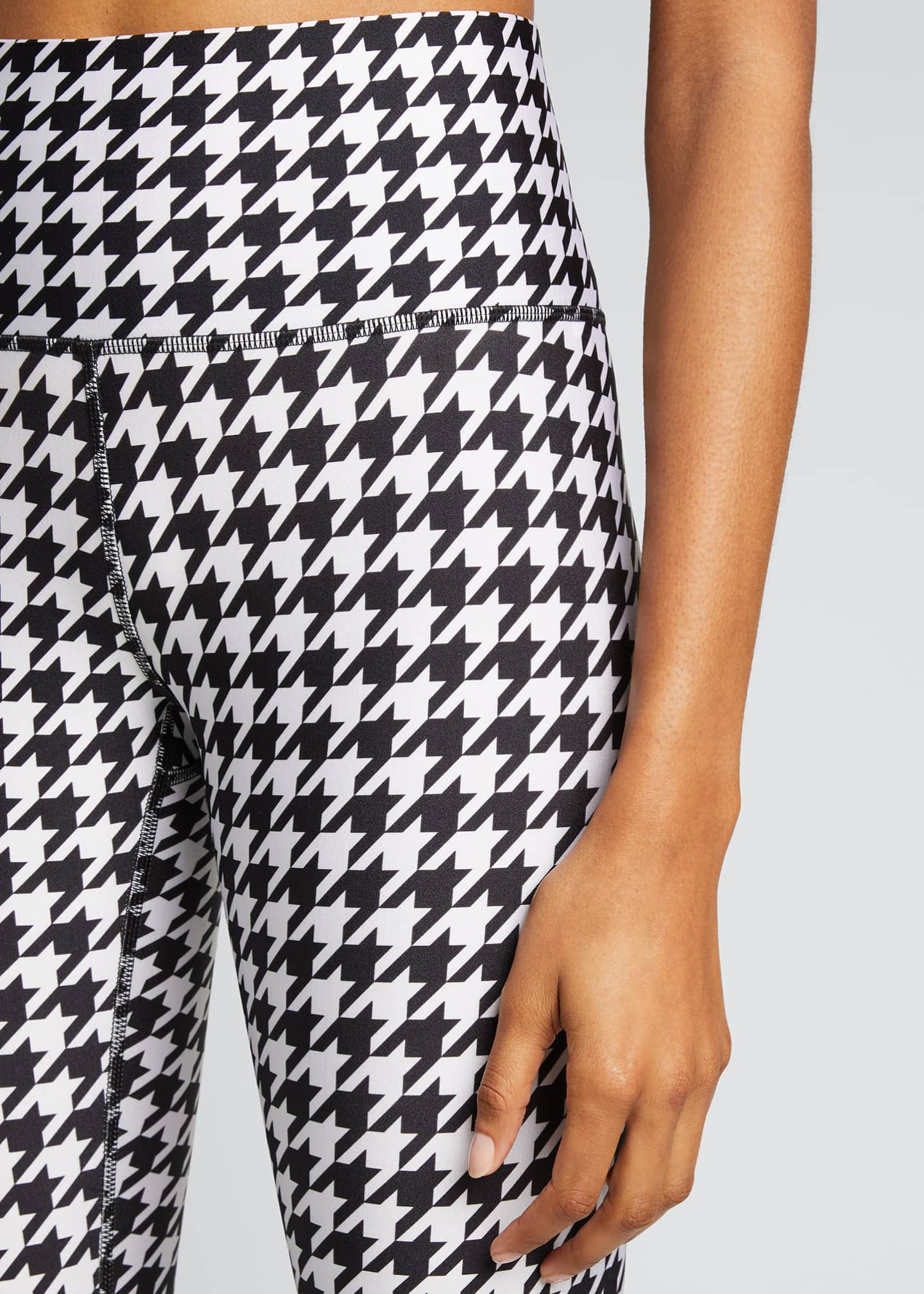 Image 4 of 5: Houndstooth Hi-Shine Leggings