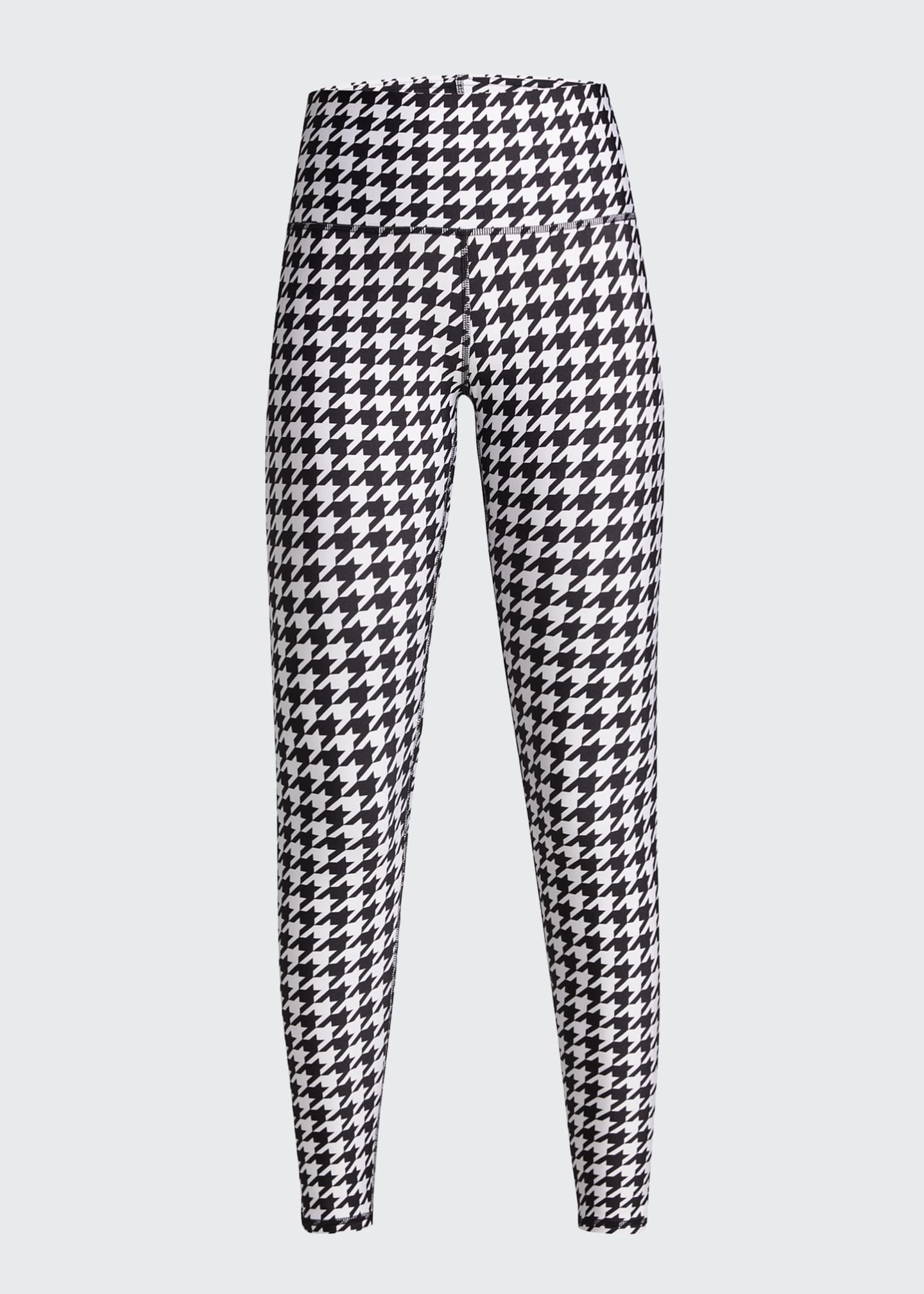 Image 5 of 5: Houndstooth Hi-Shine Leggings