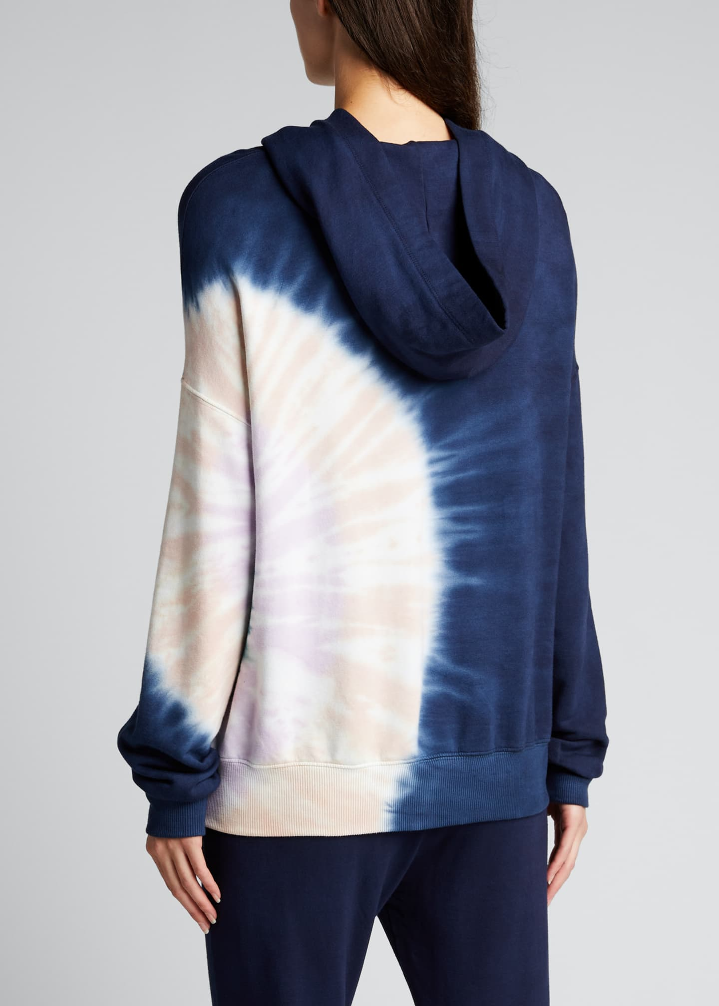 Image 2 of 5: Supersoft Fleece Circular Tie-Dye Pullover