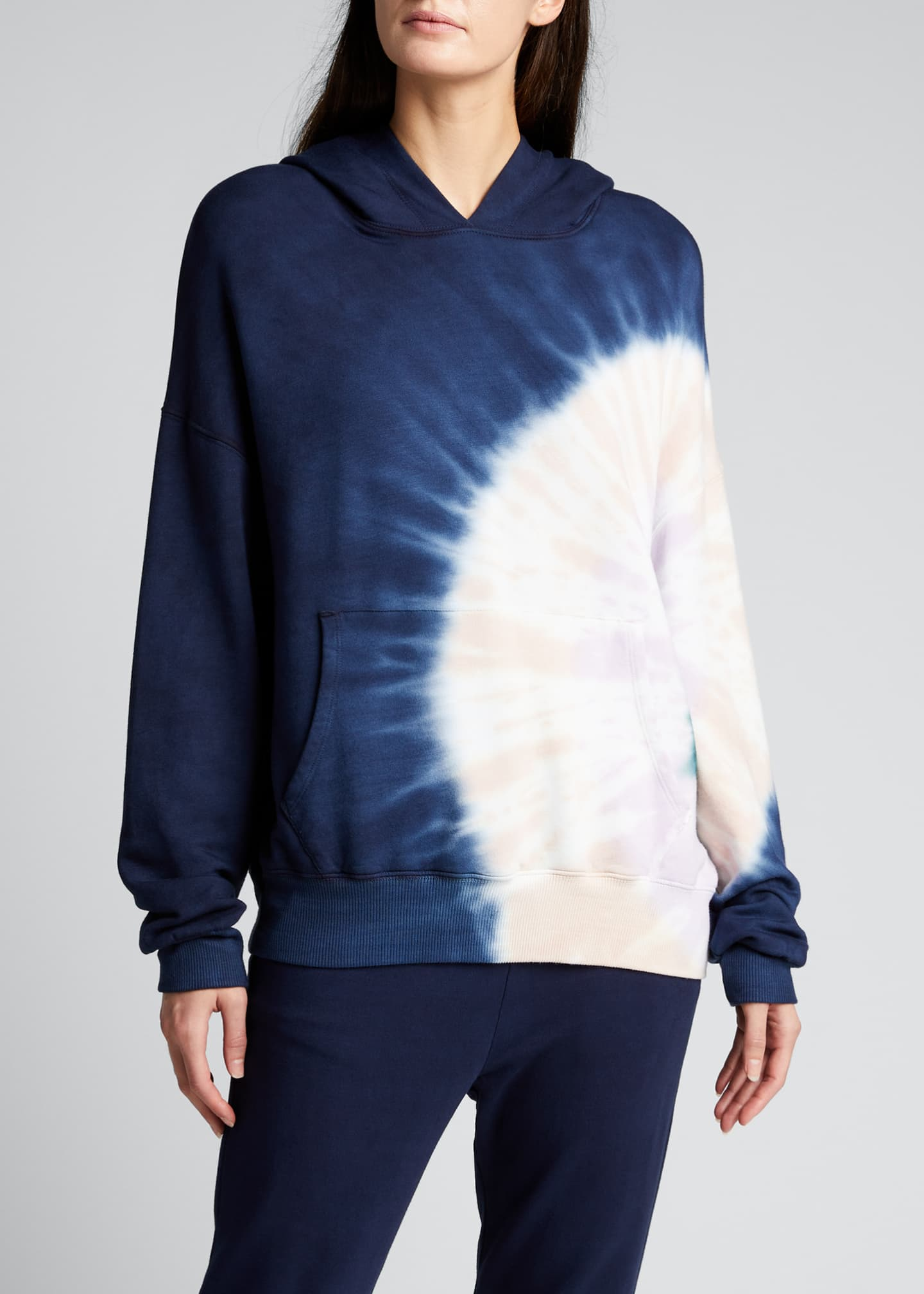 Image 3 of 5: Supersoft Fleece Circular Tie-Dye Pullover