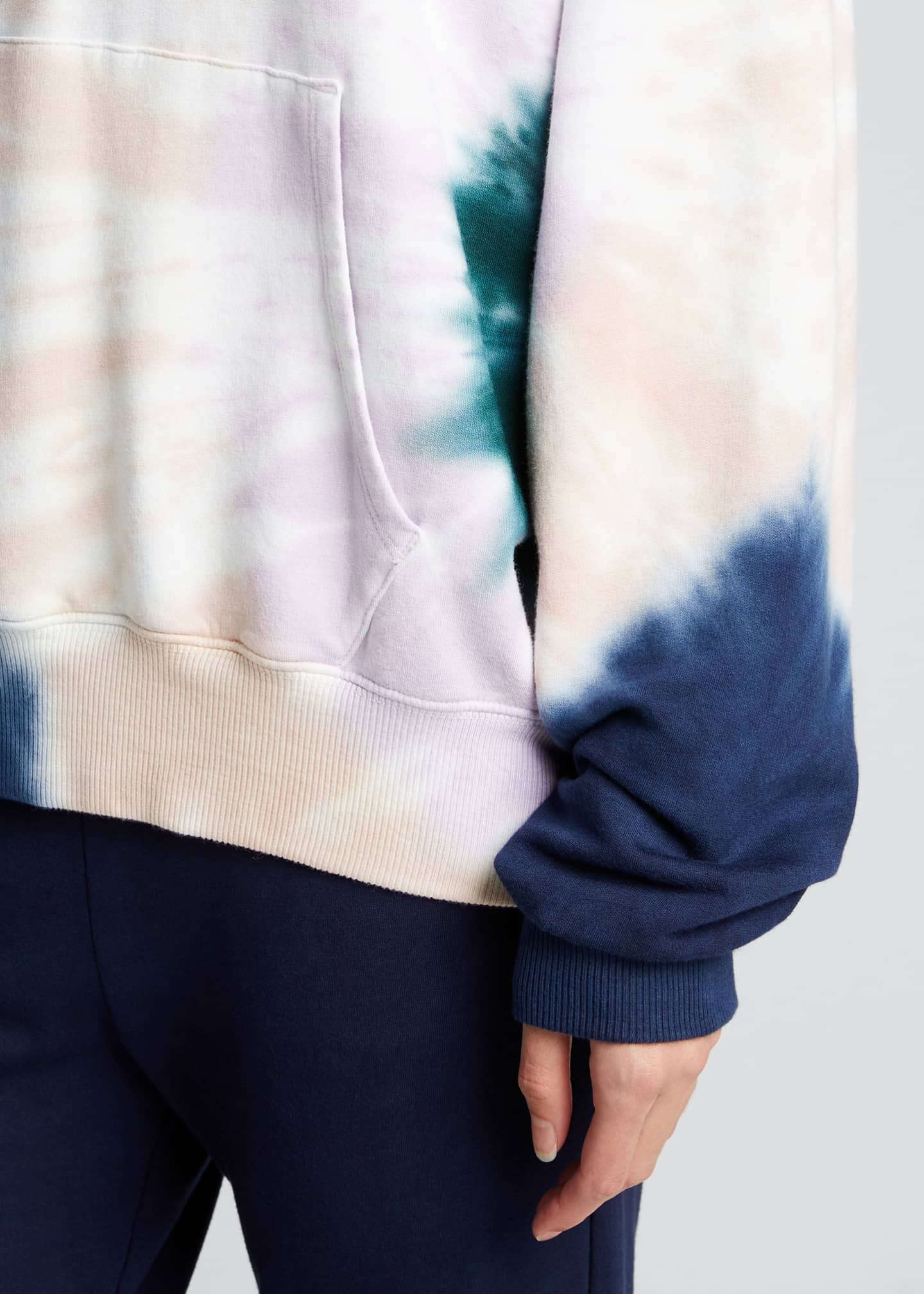 Image 4 of 5: Supersoft Fleece Circular Tie-Dye Pullover