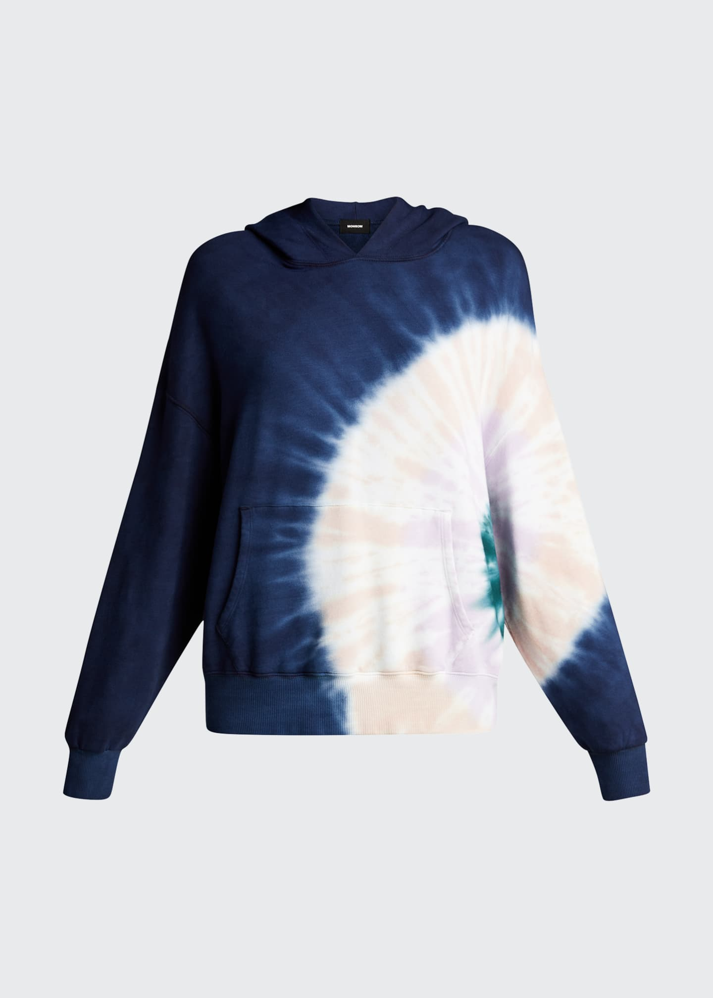 Image 5 of 5: Supersoft Fleece Circular Tie-Dye Pullover