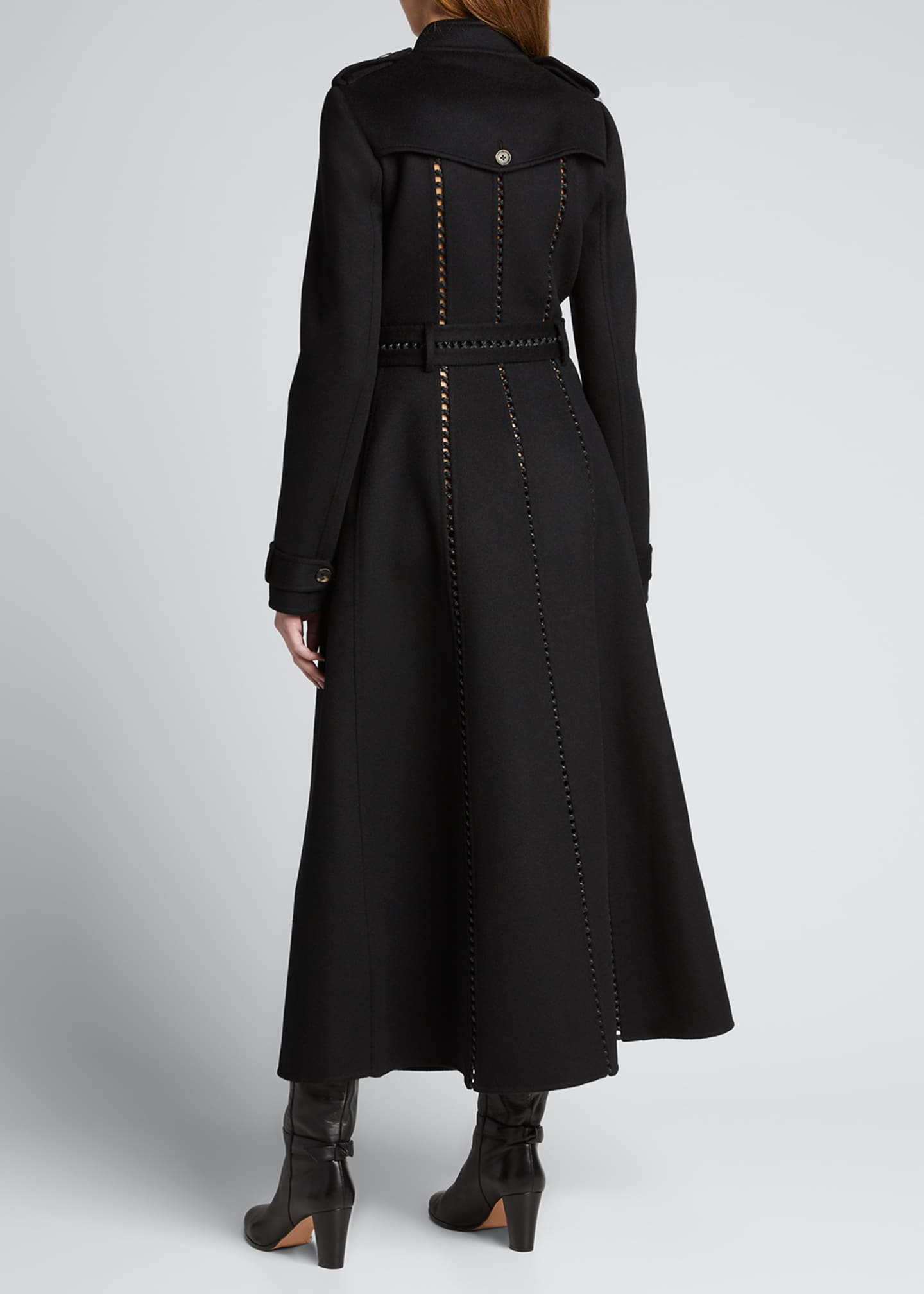 Image 2 of 5: Franz Knotted Cashmere Lace-Up Trench Coat