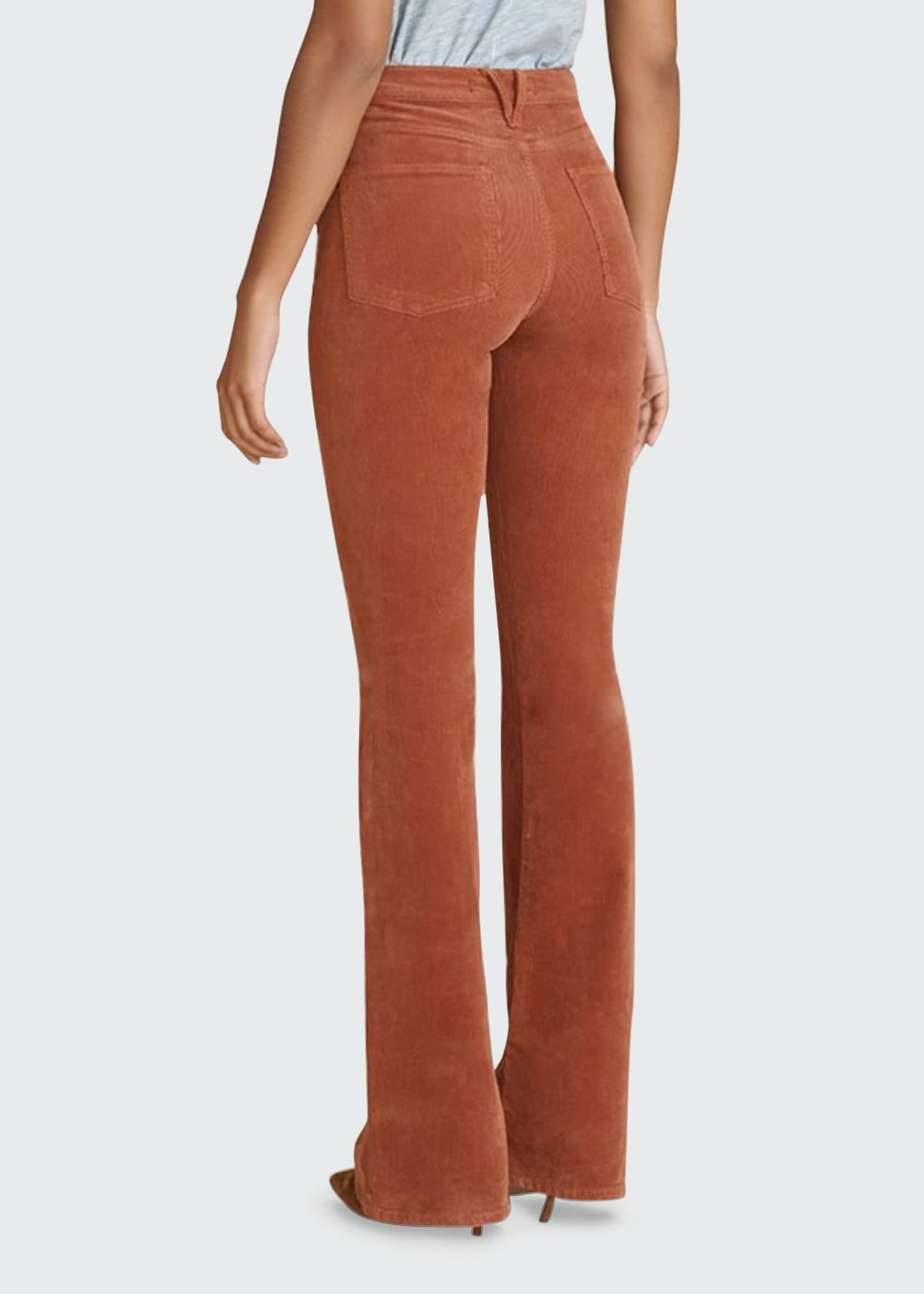 Image 2 of 3: Beverly Corduroy High-Rise Flare Pants