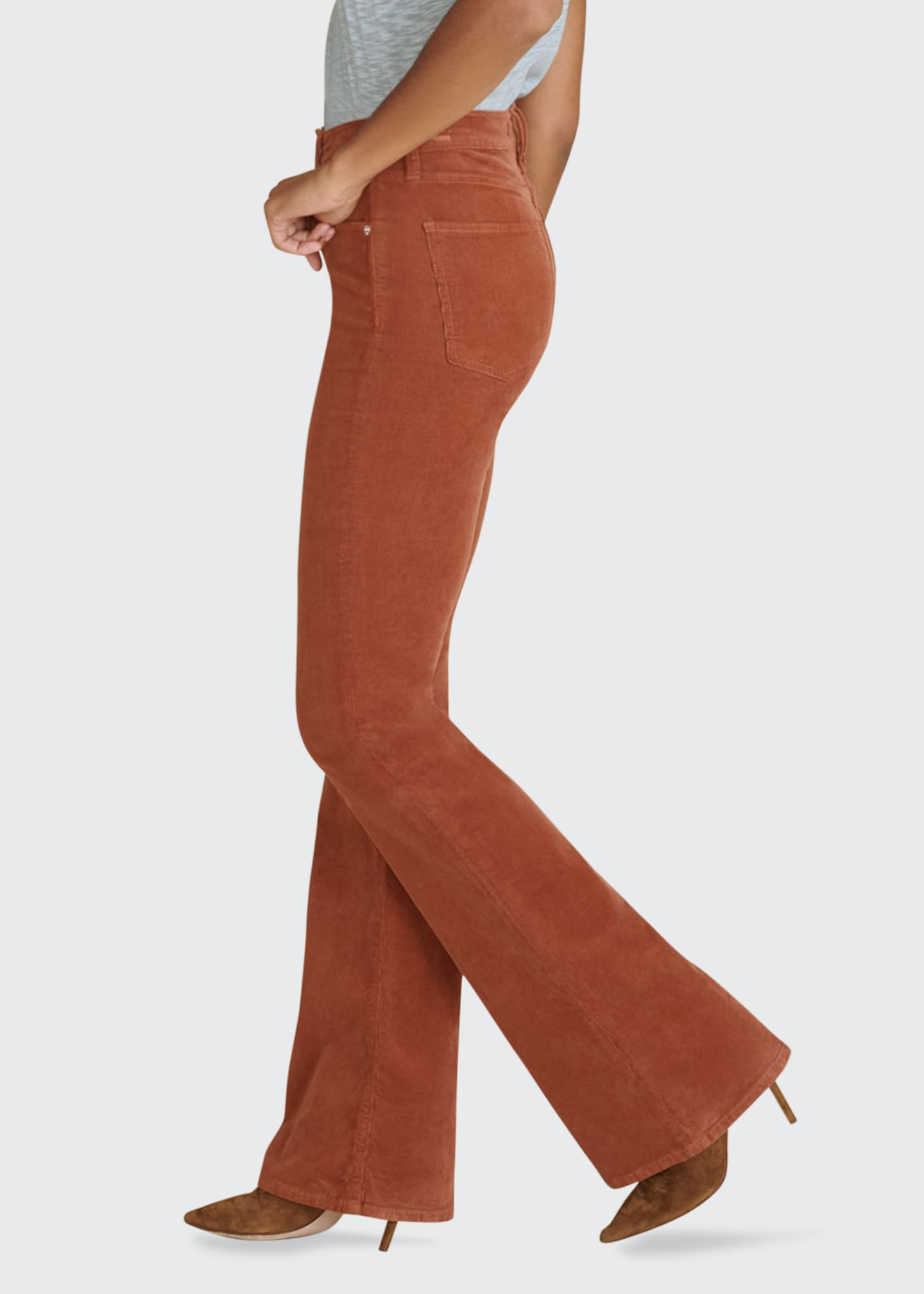 Image 3 of 3: Beverly Corduroy High-Rise Flare Pants