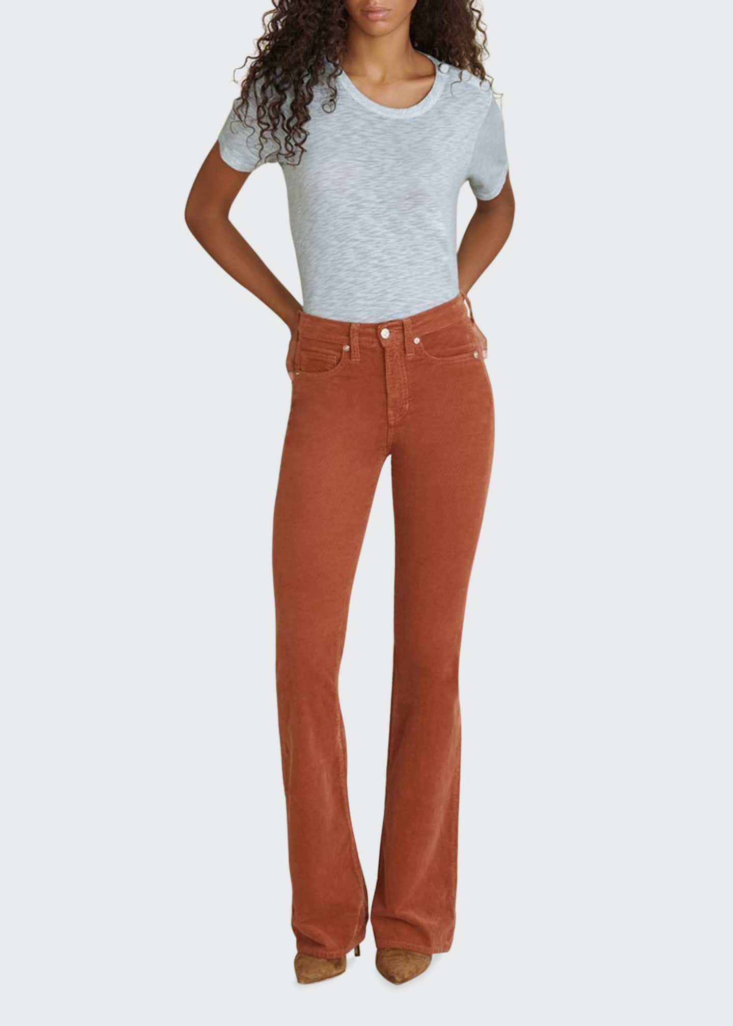 Image 1 of 3: Beverly Corduroy High-Rise Flare Pants