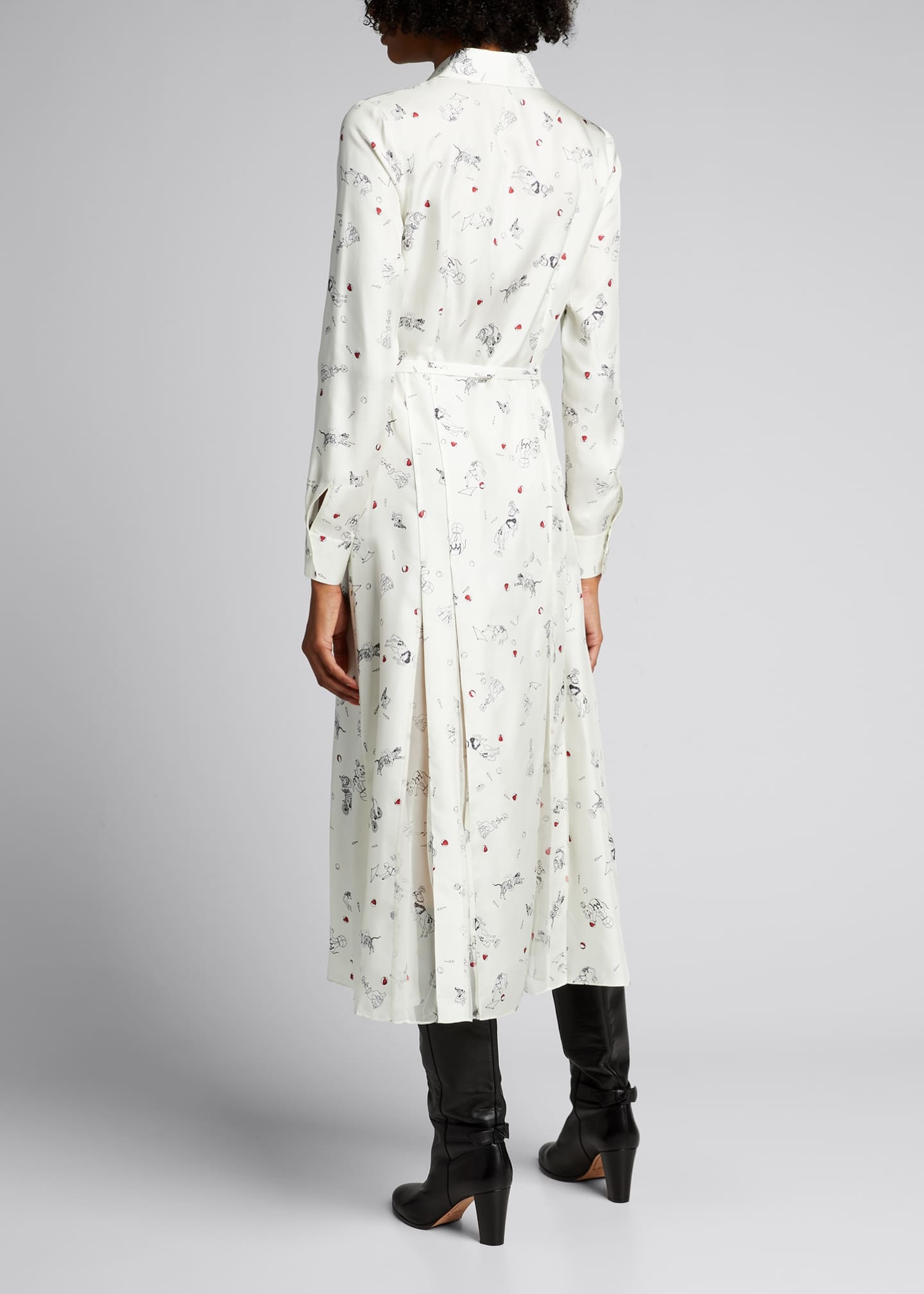 Image 2 of 5: Jane Belted Silk Shirtdress