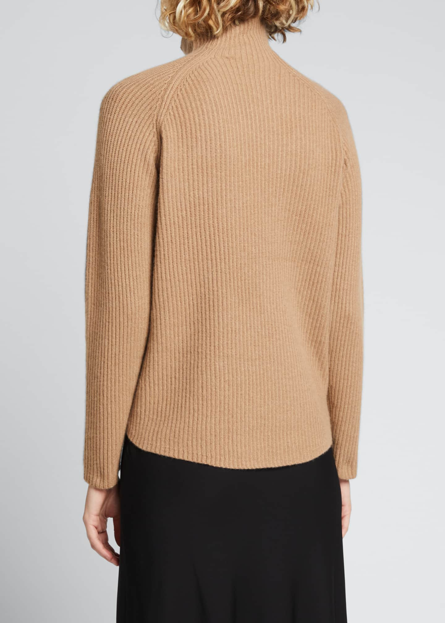 Image 2 of 5: Ribbed Turtleneck Cashmere Sweater