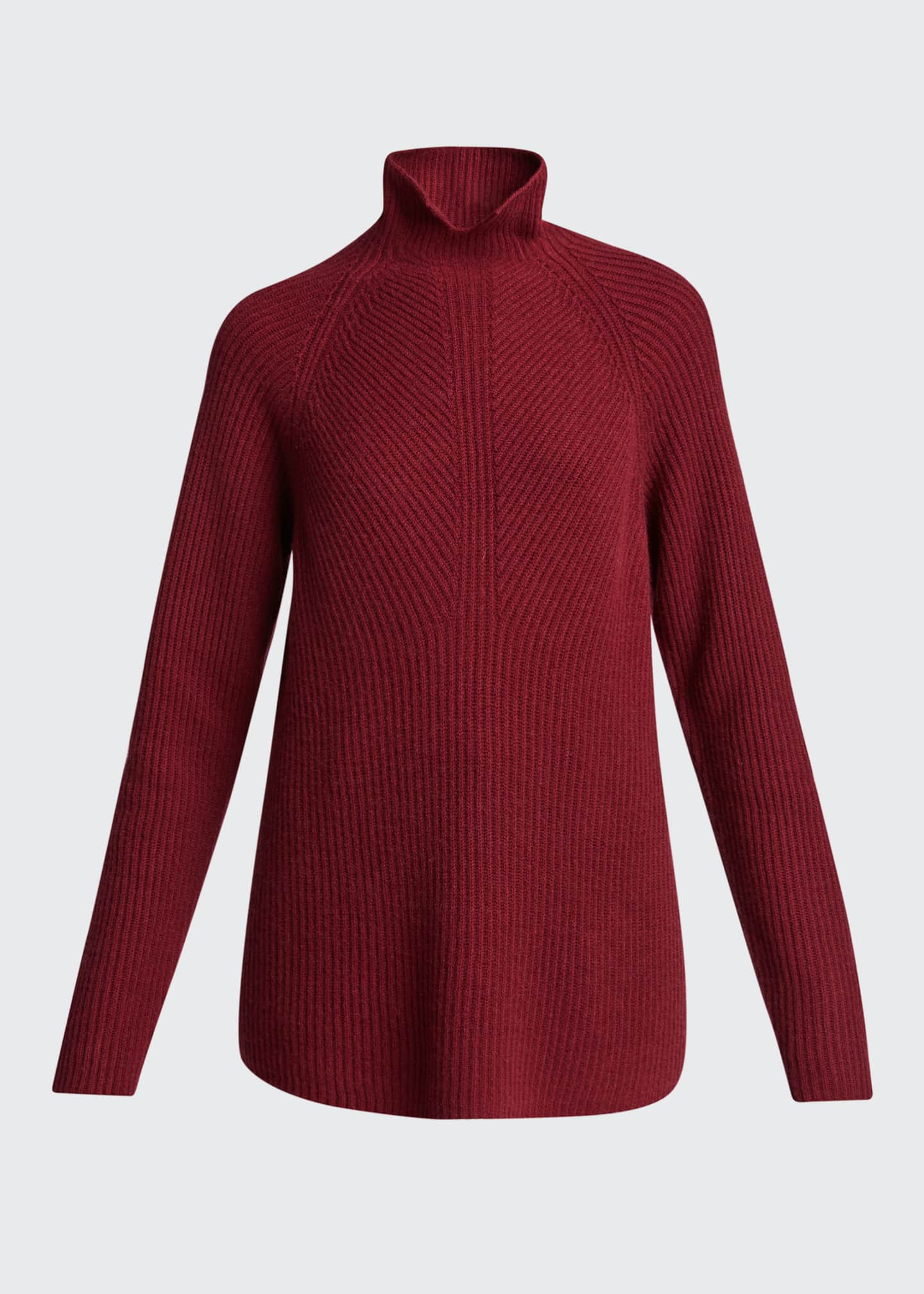 Image 5 of 5: Ribbed Turtleneck Cashmere Sweater
