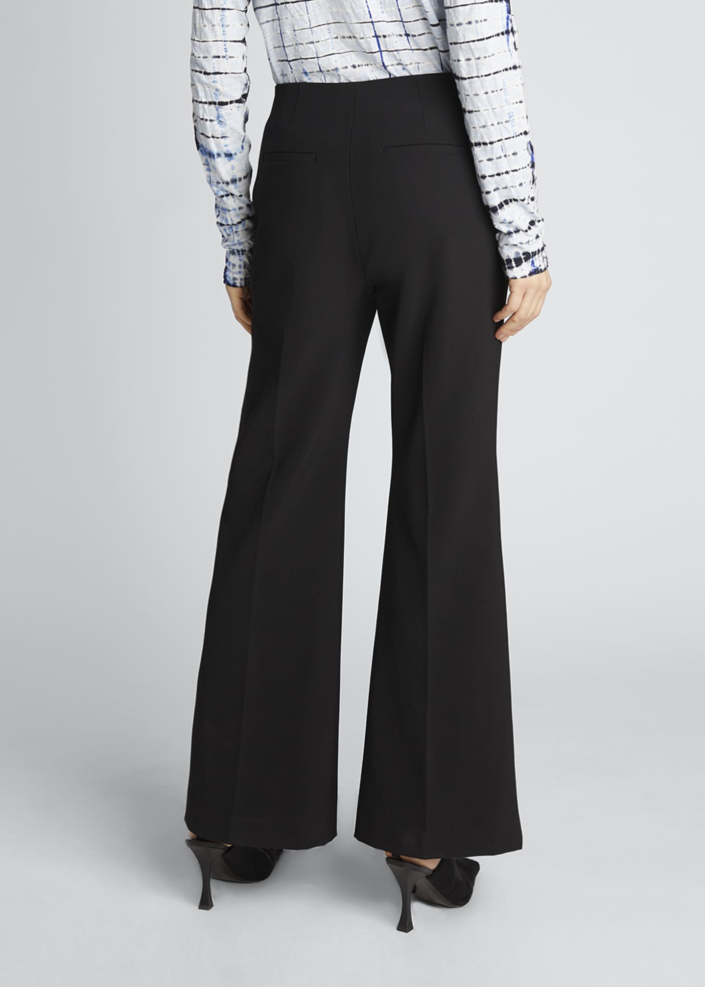 Image 2 of 5: Technical Wool Crop Flare Pants