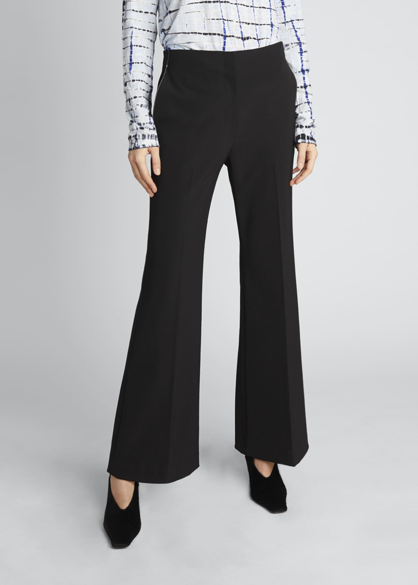 Image 3 of 5: Technical Wool Crop Flare Pants