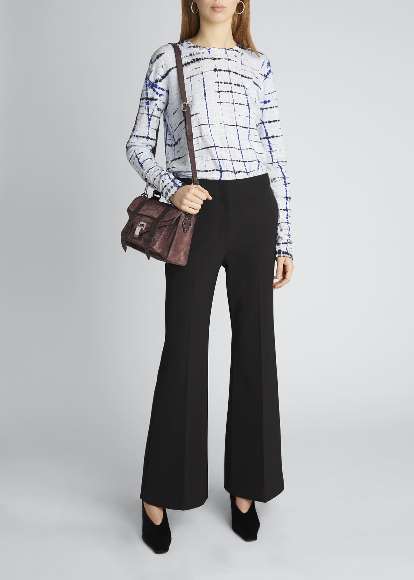 Image 1 of 5: Technical Wool Crop Flare Pants