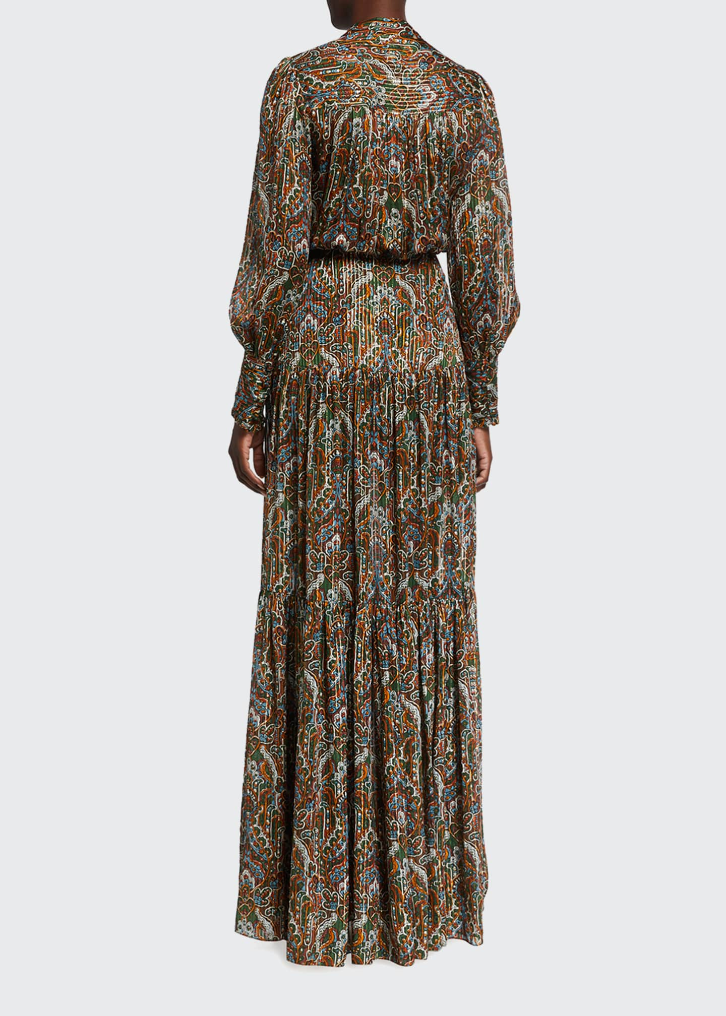 Image 2 of 2: Monali Paisley Maxi Dress
