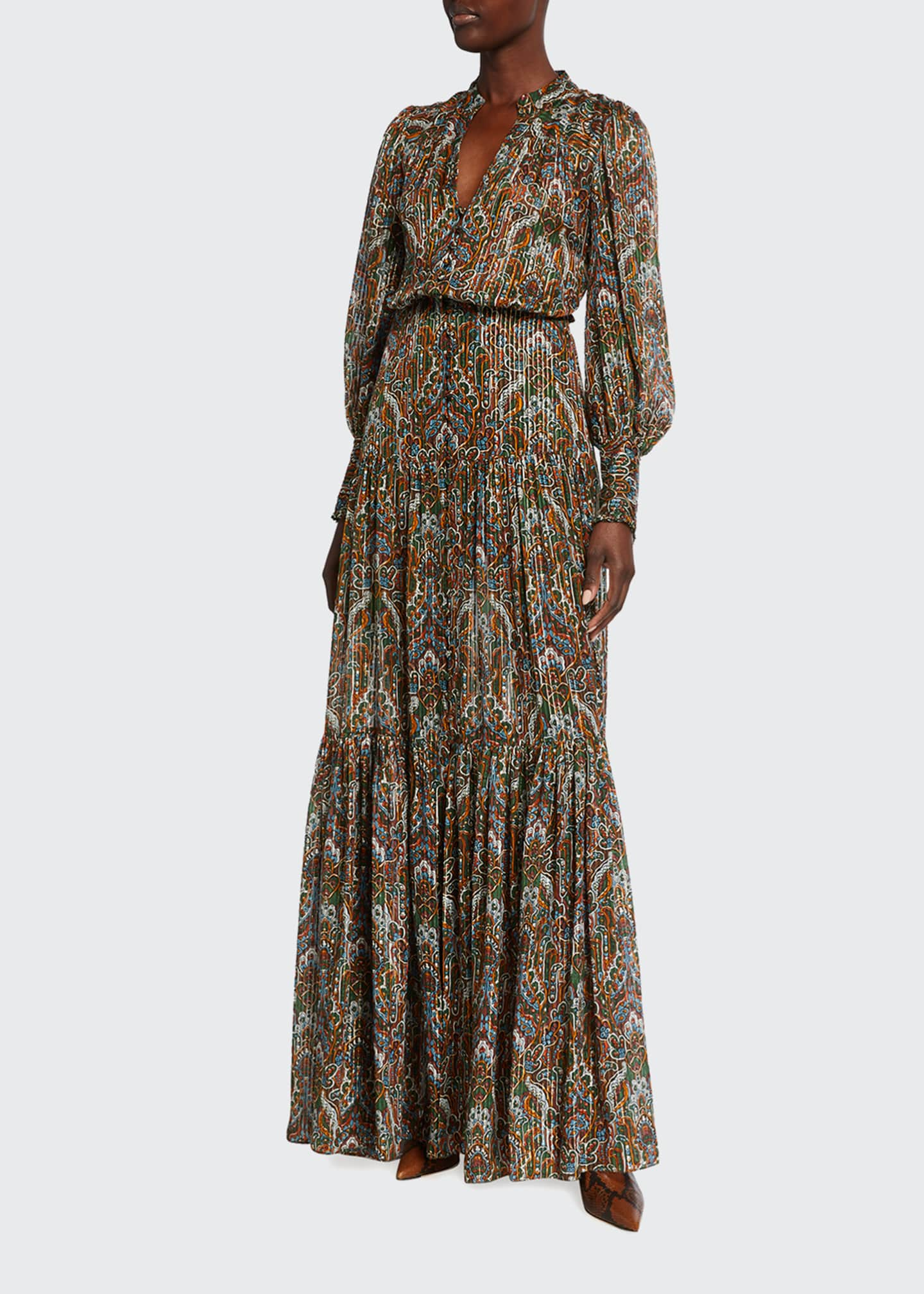 Image 1 of 2: Monali Paisley Maxi Dress