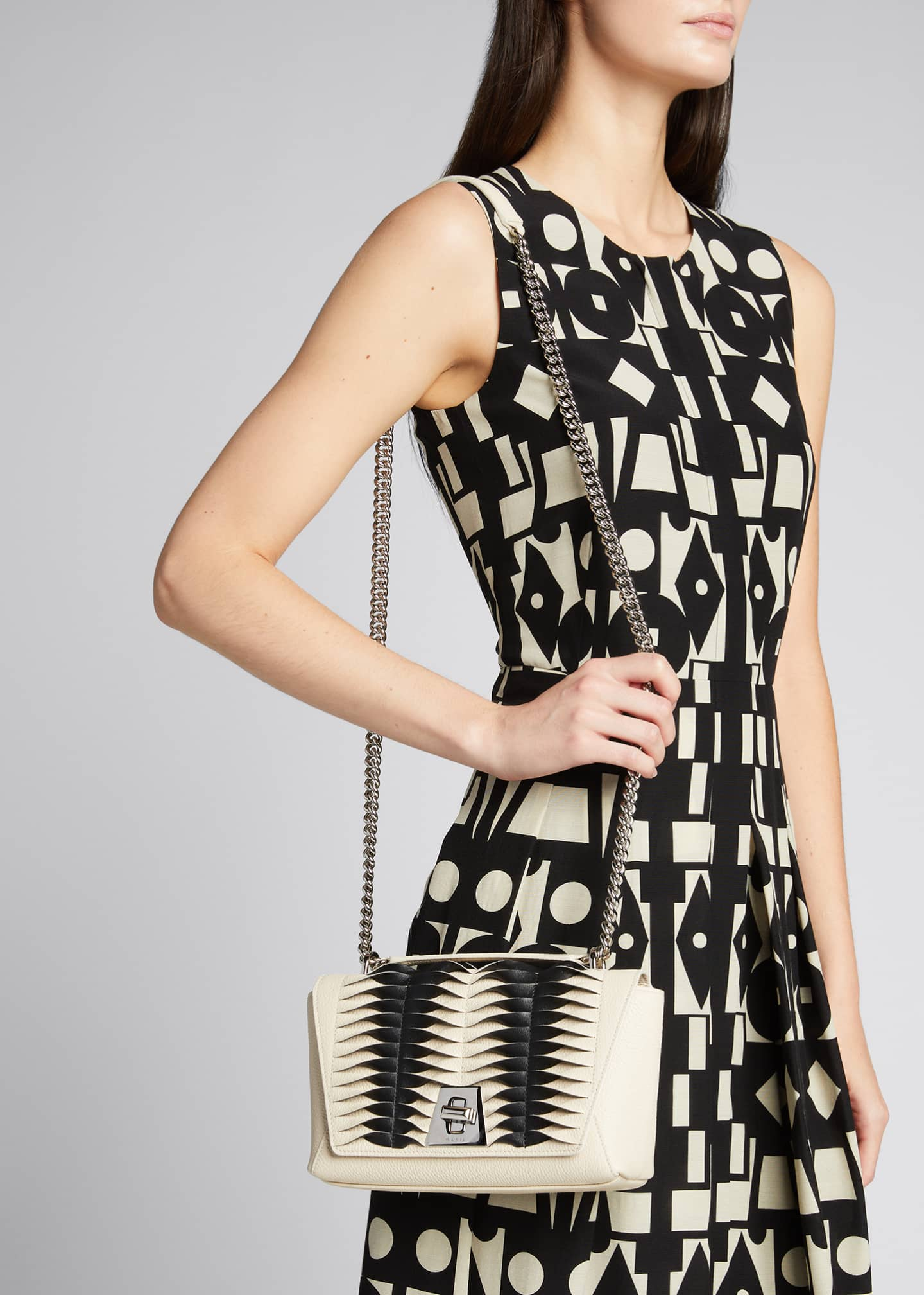 Image 2 of 5: Anouk Small Day Bicolor Pleats Crossbody Bag