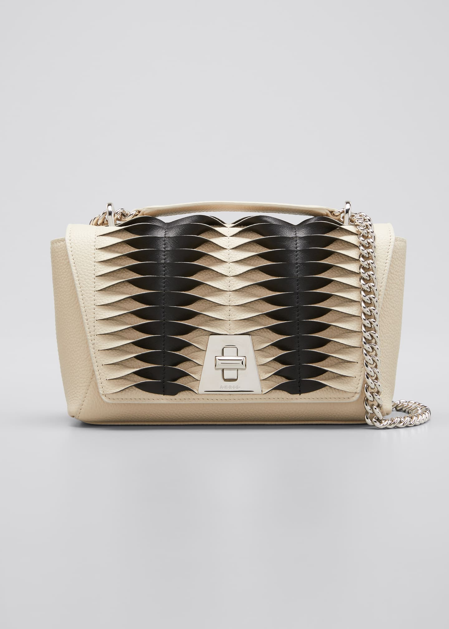 Image 1 of 5: Anouk Small Day Bicolor Pleats Crossbody Bag