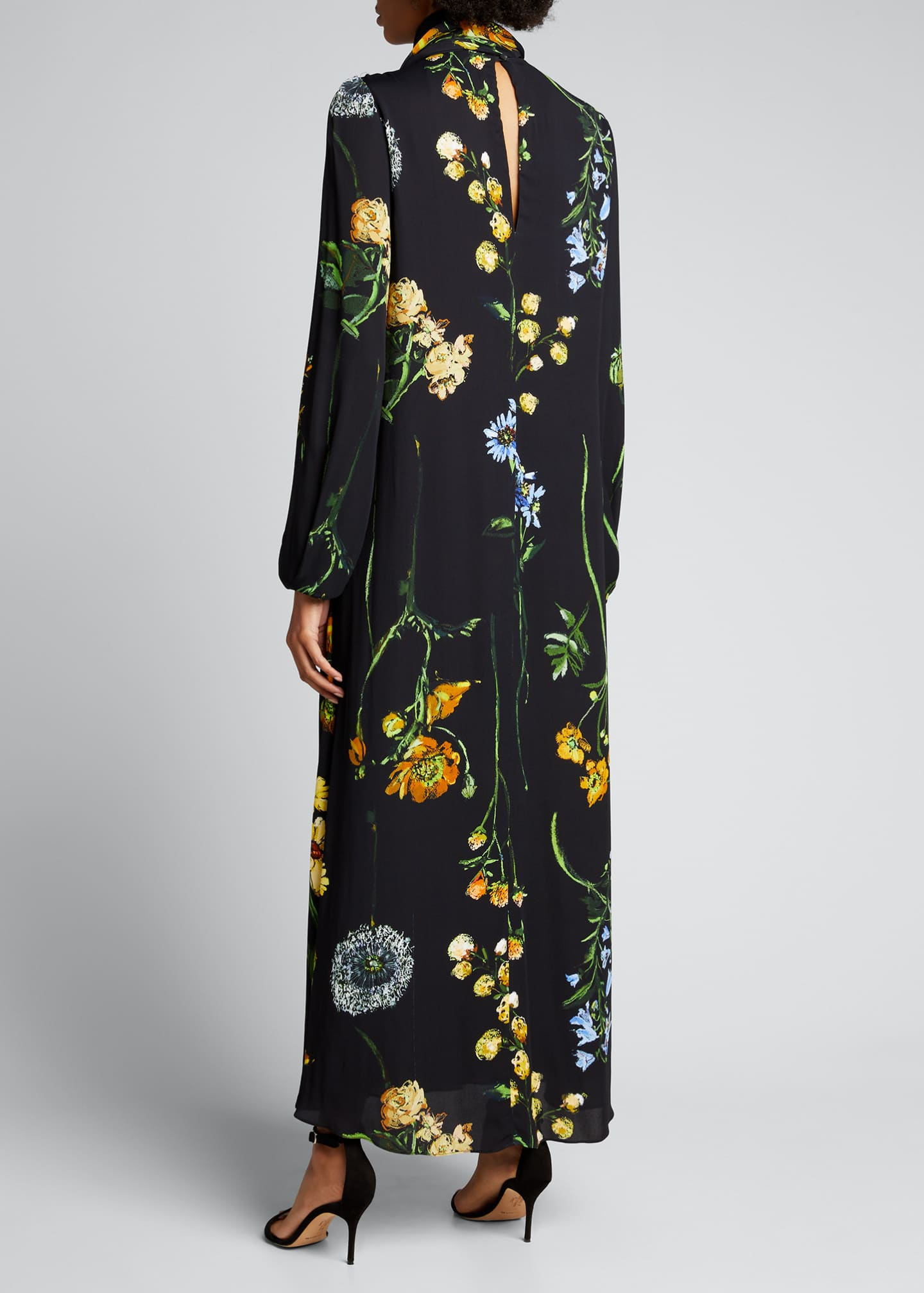 Image 2 of 4: Floral Georgette Maxi Dress