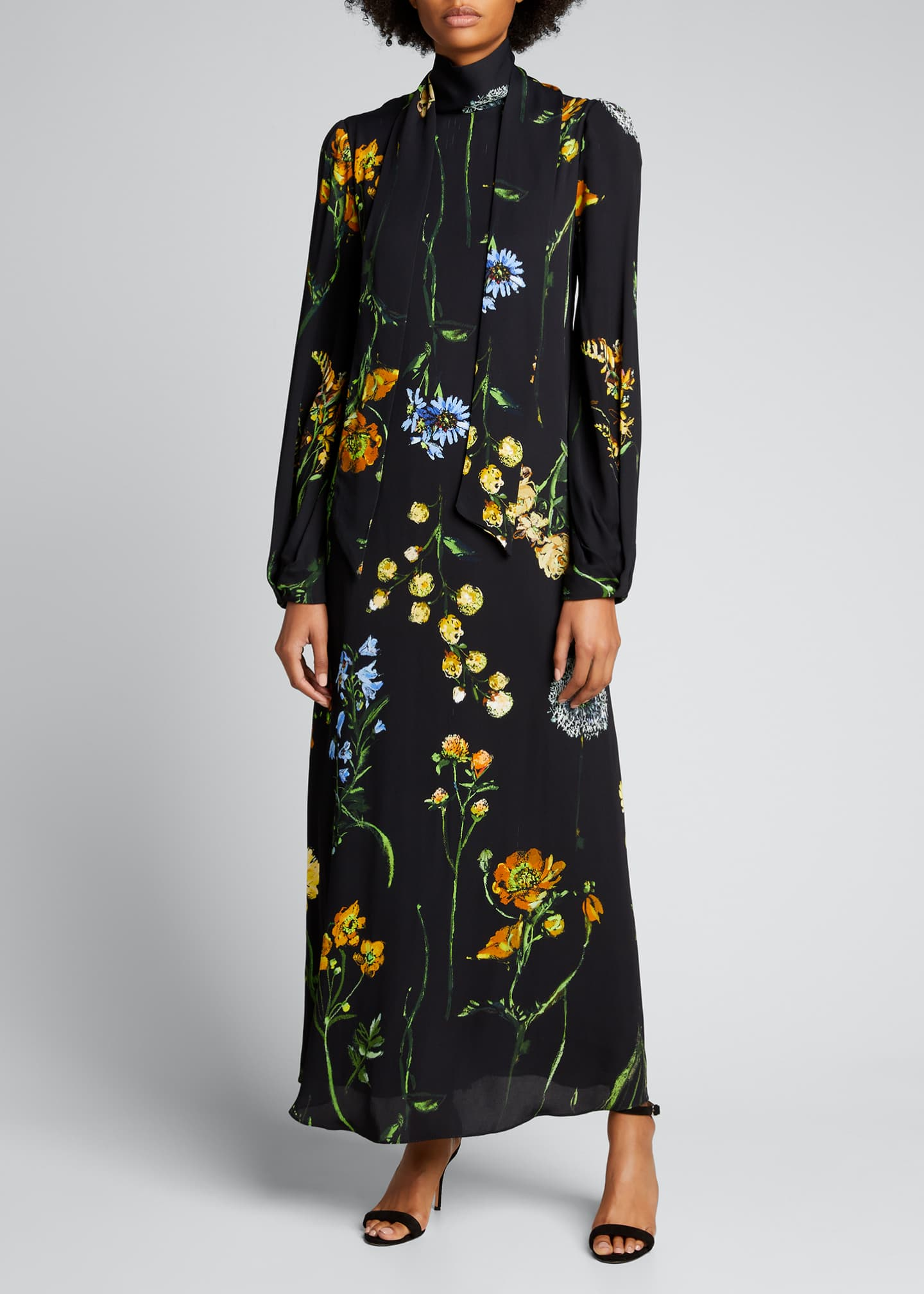 Image 3 of 4: Floral Georgette Maxi Dress
